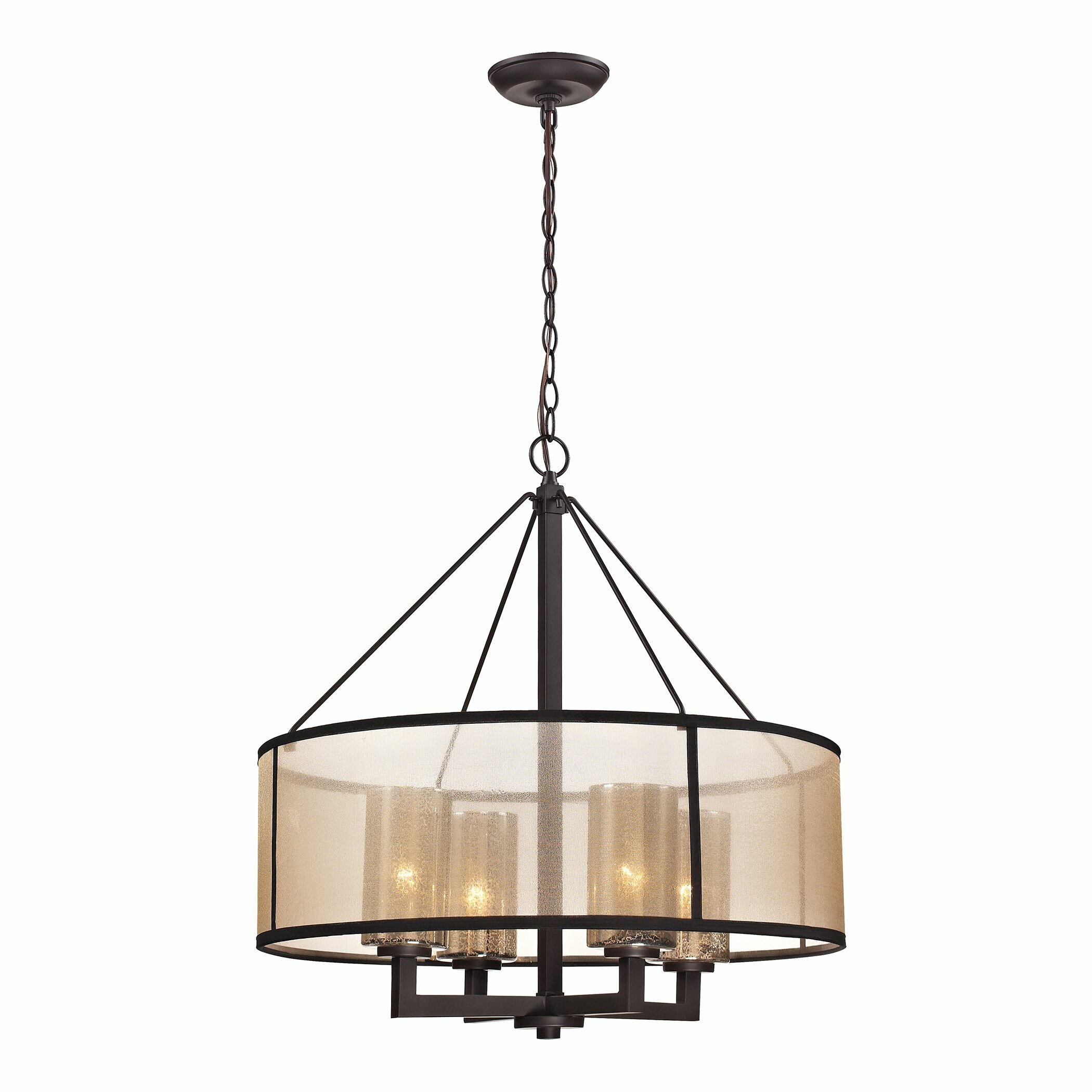 Wayfair Chandelier: Brayden Studio Dailey 4 Light Drum Chandelier & Reviews