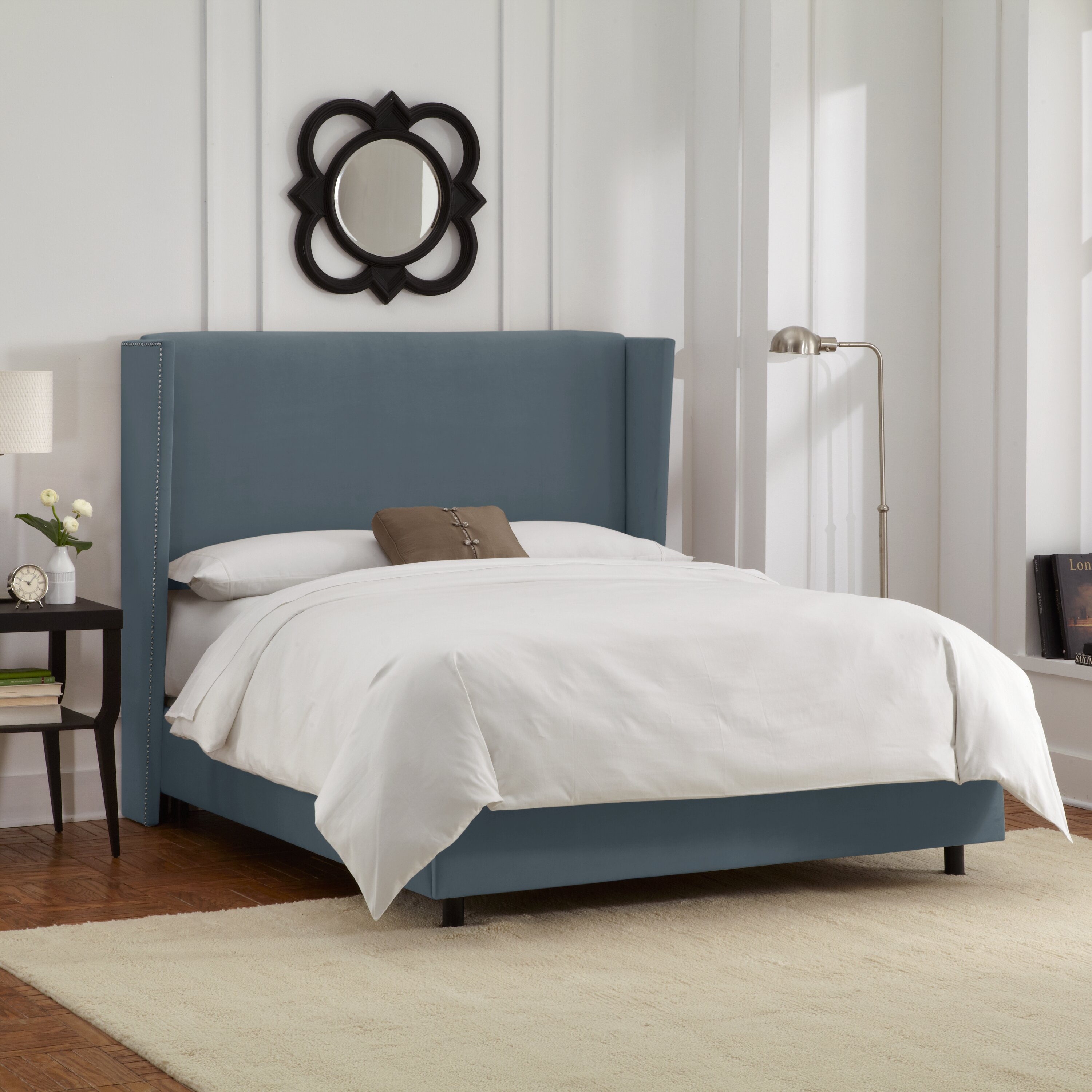 Brayden Studio Upholstered Panel Bed u0026 Reviews : Wayfair