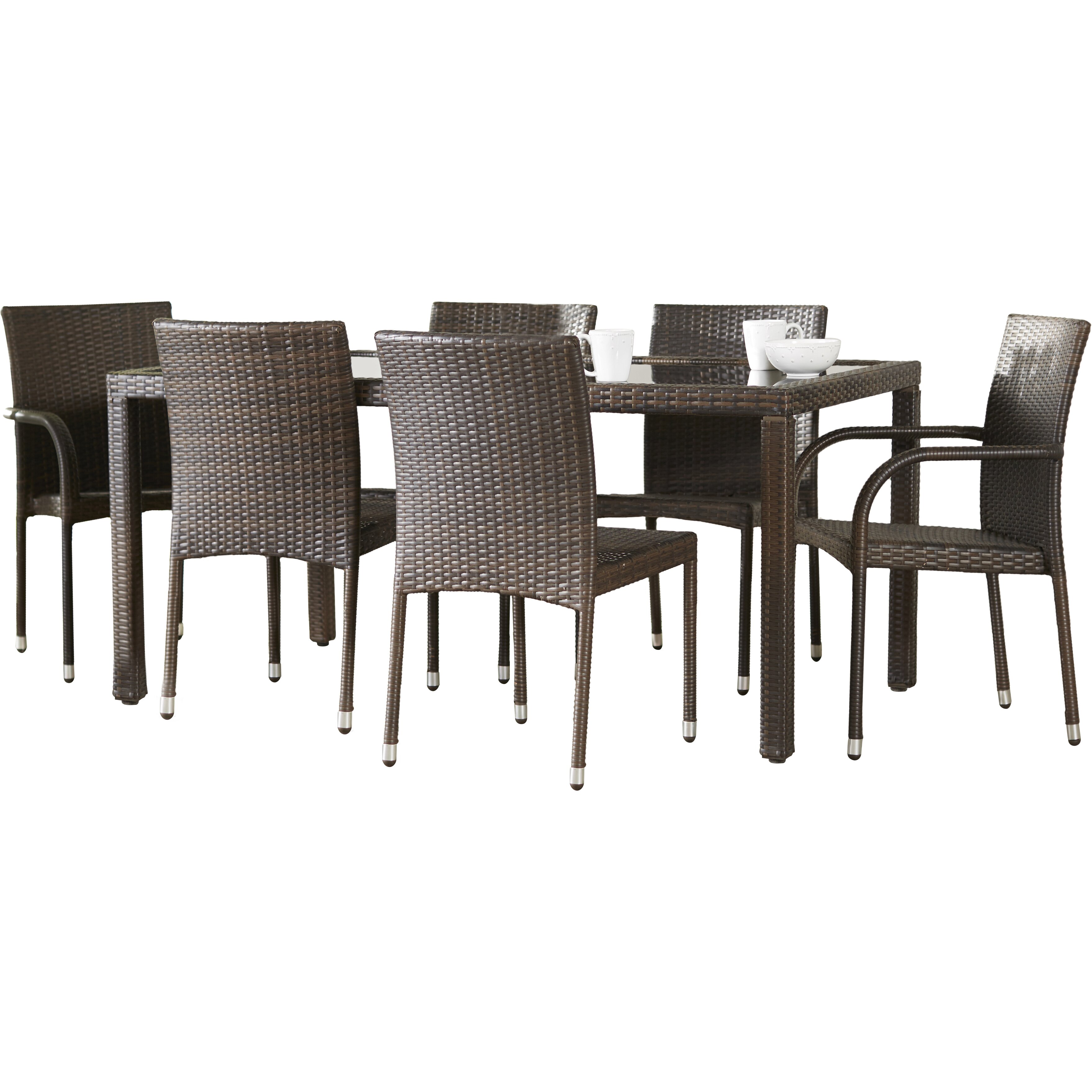 Brayden Studio Ginsburg 7 Piece Dining Set Reviews Wayfair