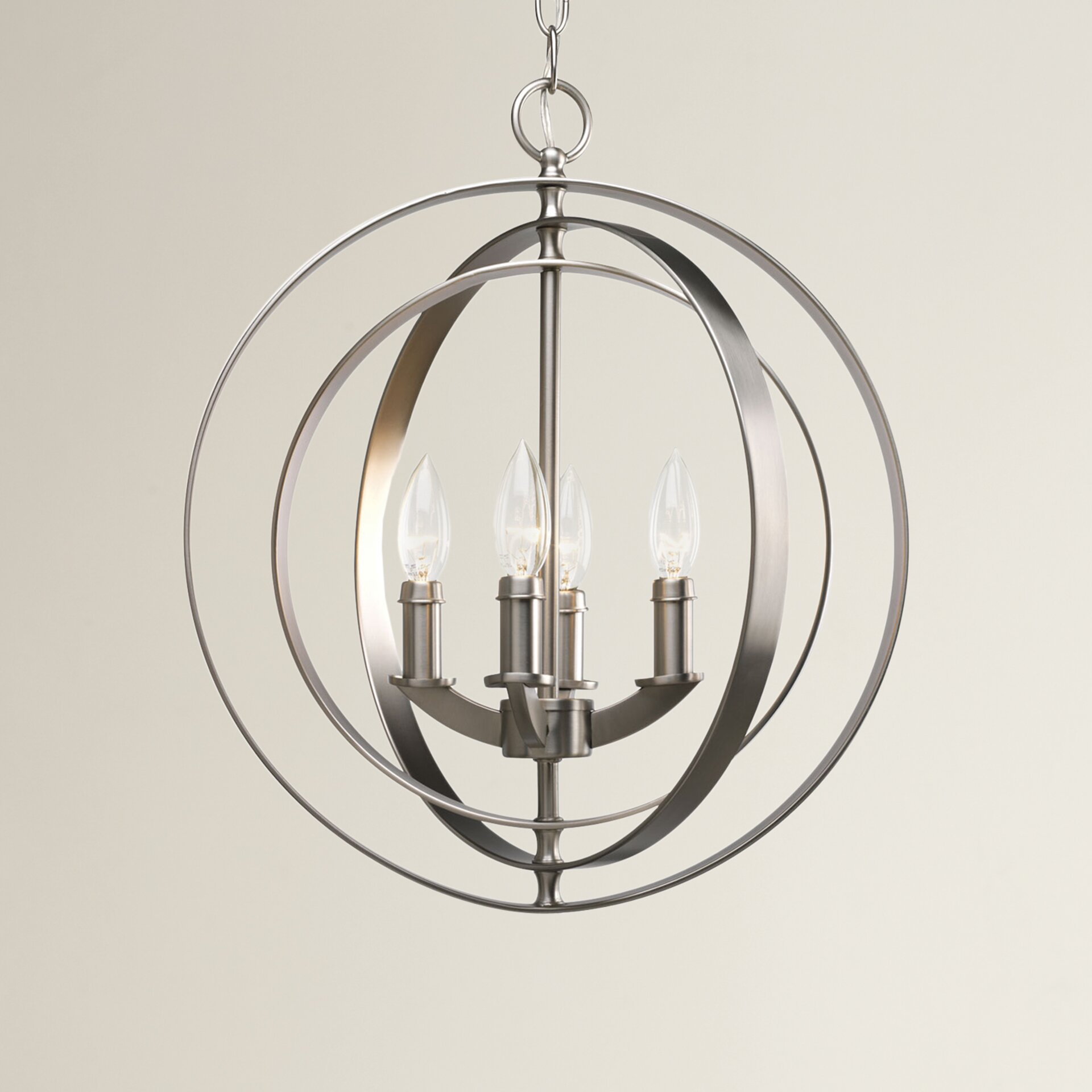 Brayden studio morganti 4 light candle chandelier reviews wayfair - Can light chandelier ...