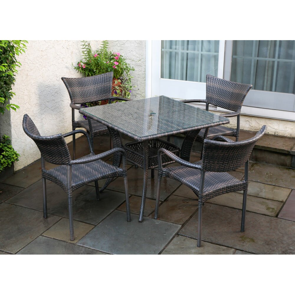 Brayden Studio Melitta 5 Piece Dining Set
