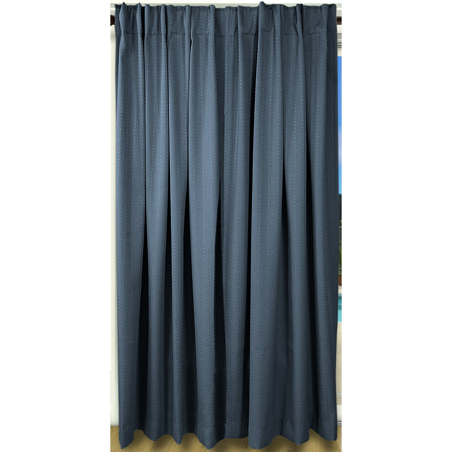 Brayden Studio Louie Back Tab Rod Pocket Patio Blackout Single Curtain Panel Reviews Wayfair