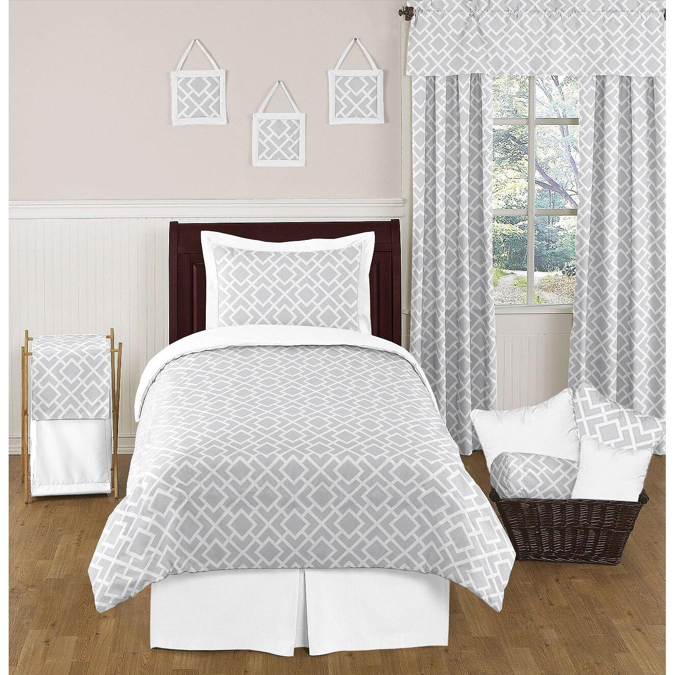 Sweet jojo designs nash 4 piece twin comforter set for Sweet jojo designs bathroom