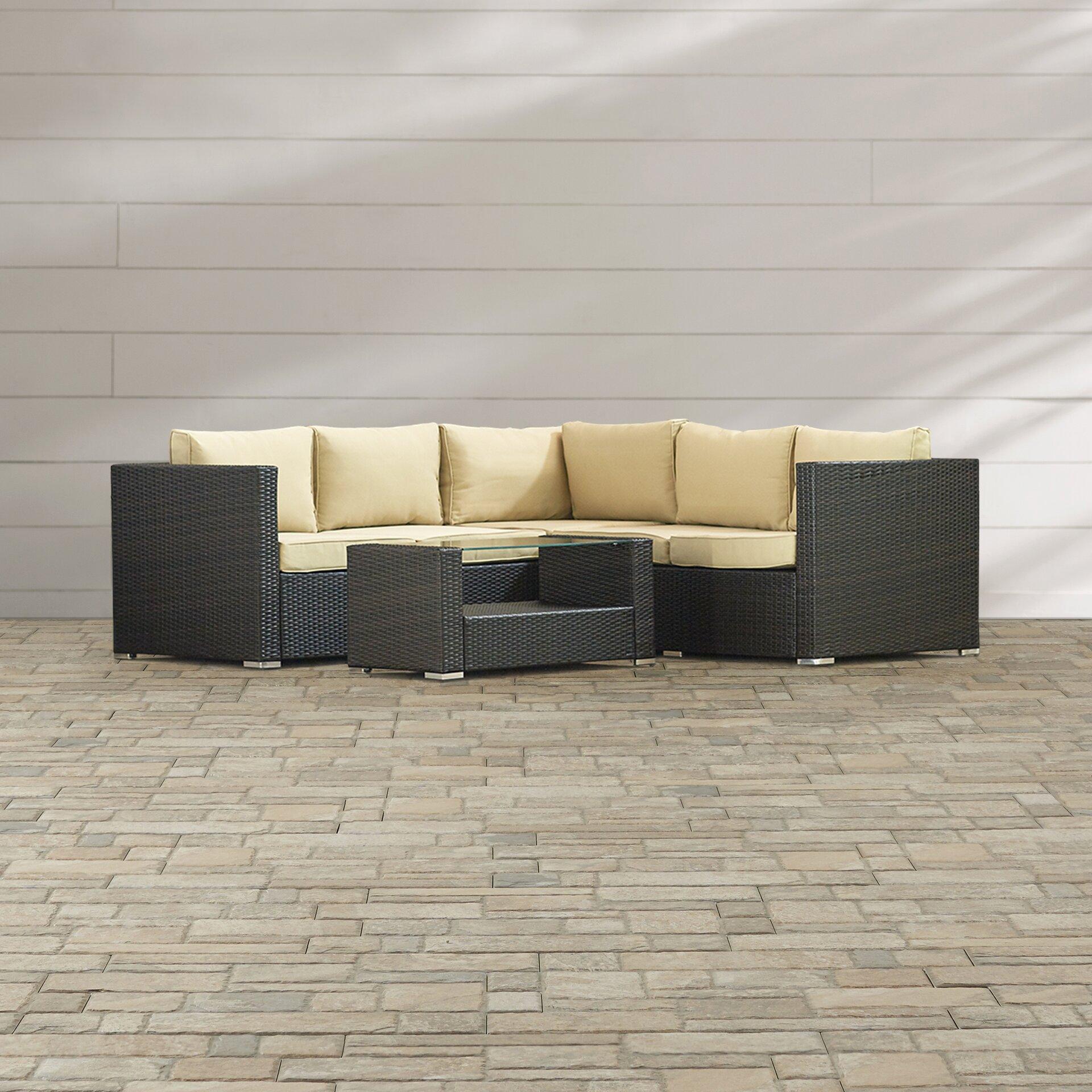 Brayden Studio Keesler 4 Piece Sectional Seating Group