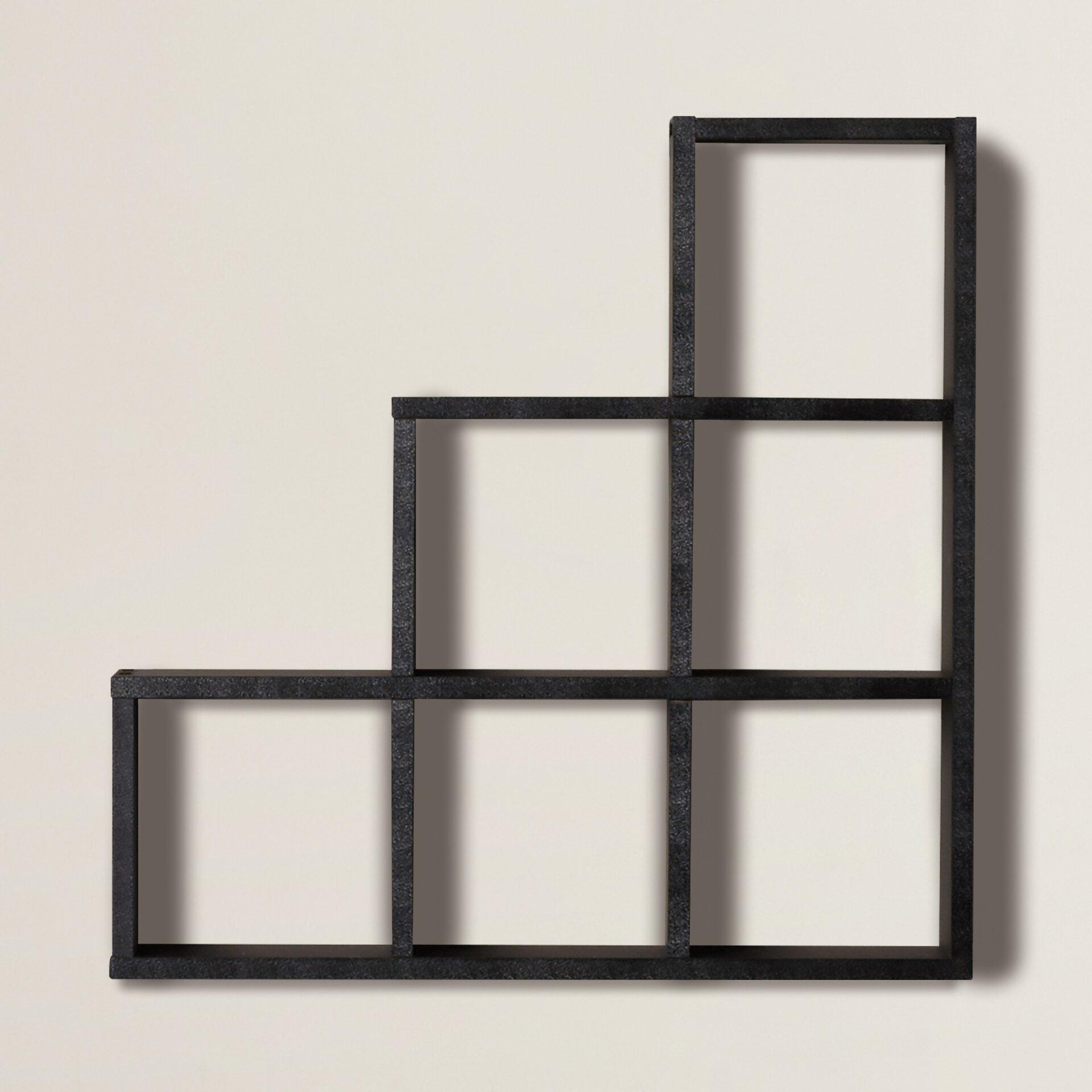 Brayden Studio Bermondsey Stepped 6 Cubby Decorative Wall