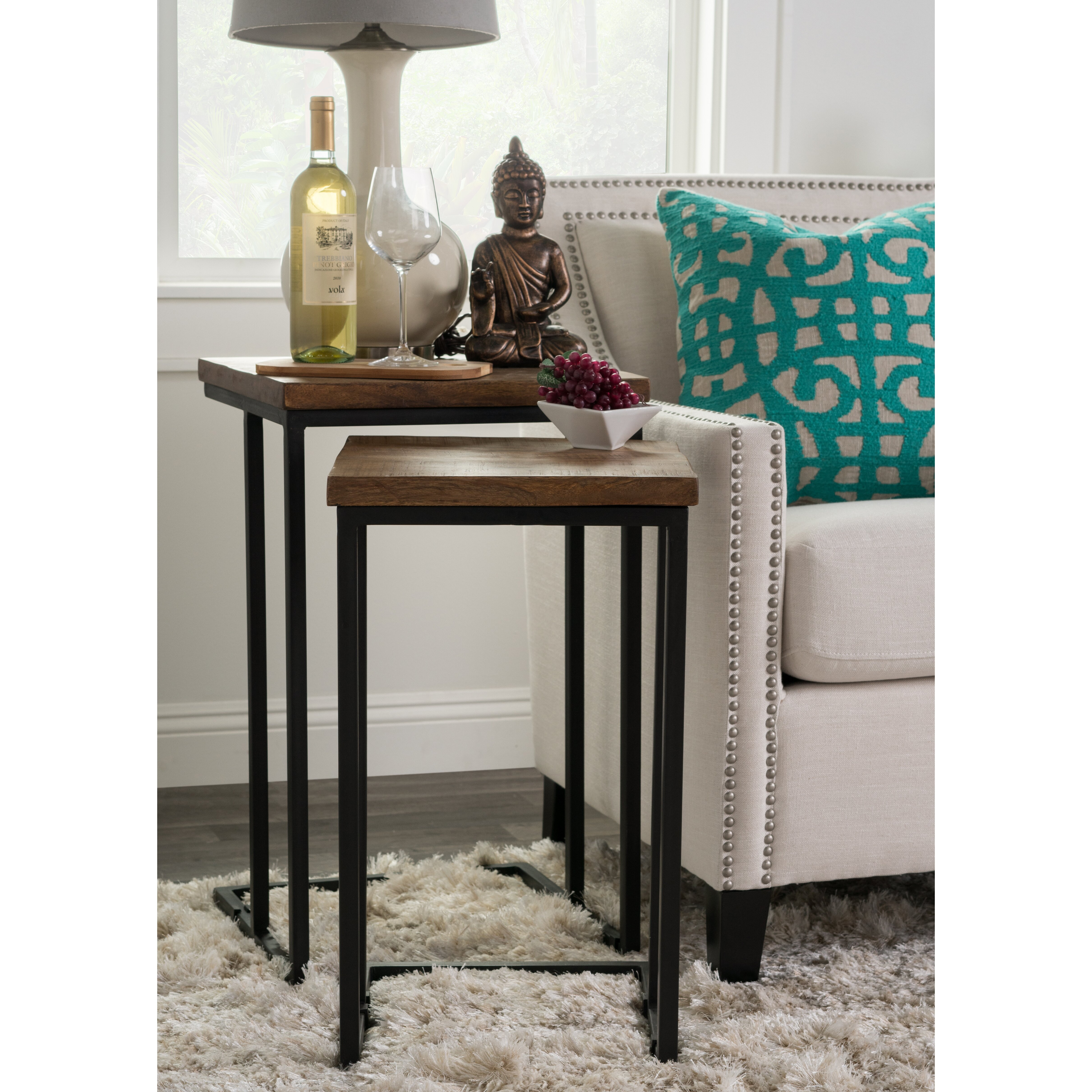 brayden studio lineberger 2 piece nesting table set. Black Bedroom Furniture Sets. Home Design Ideas