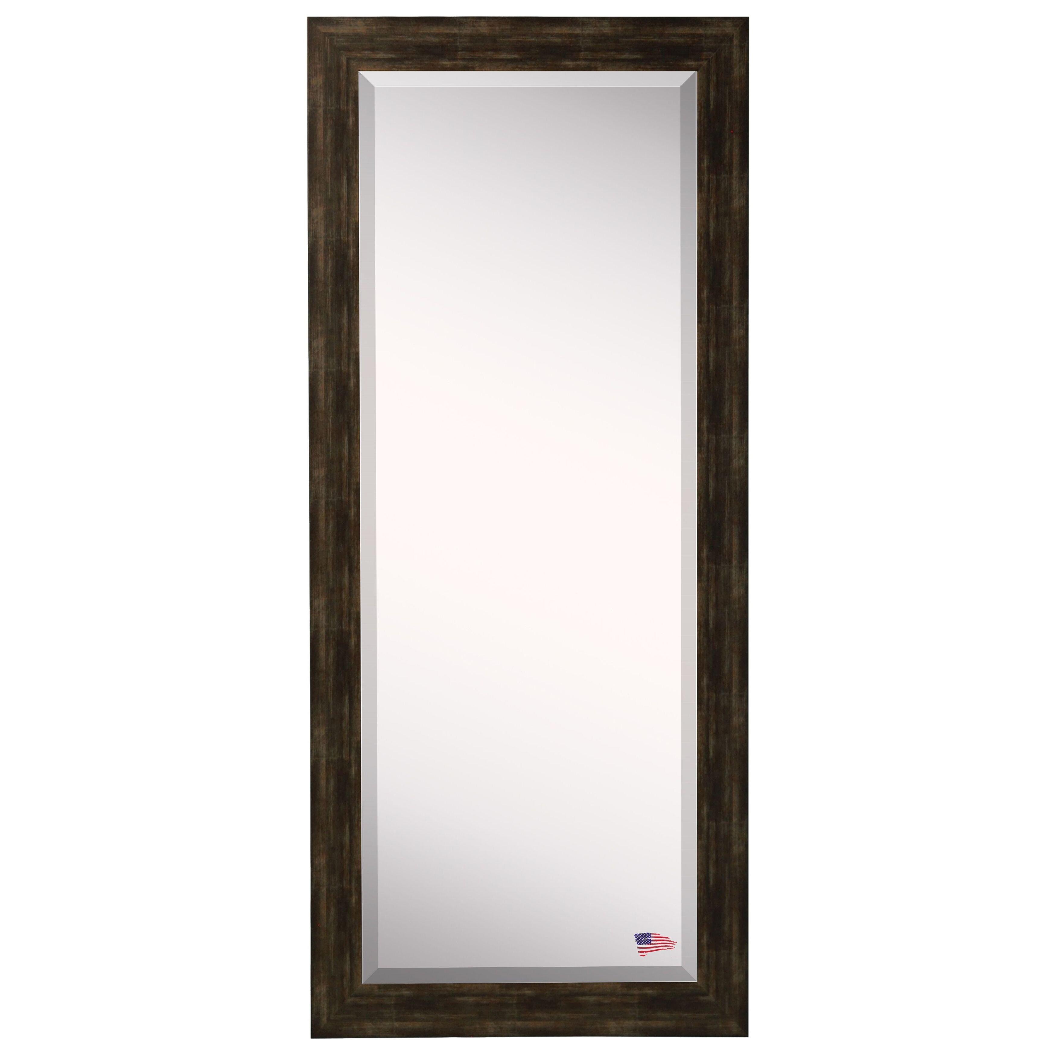 Brayden studio brushed classic extra tall floor mirror for Glass floor mirror