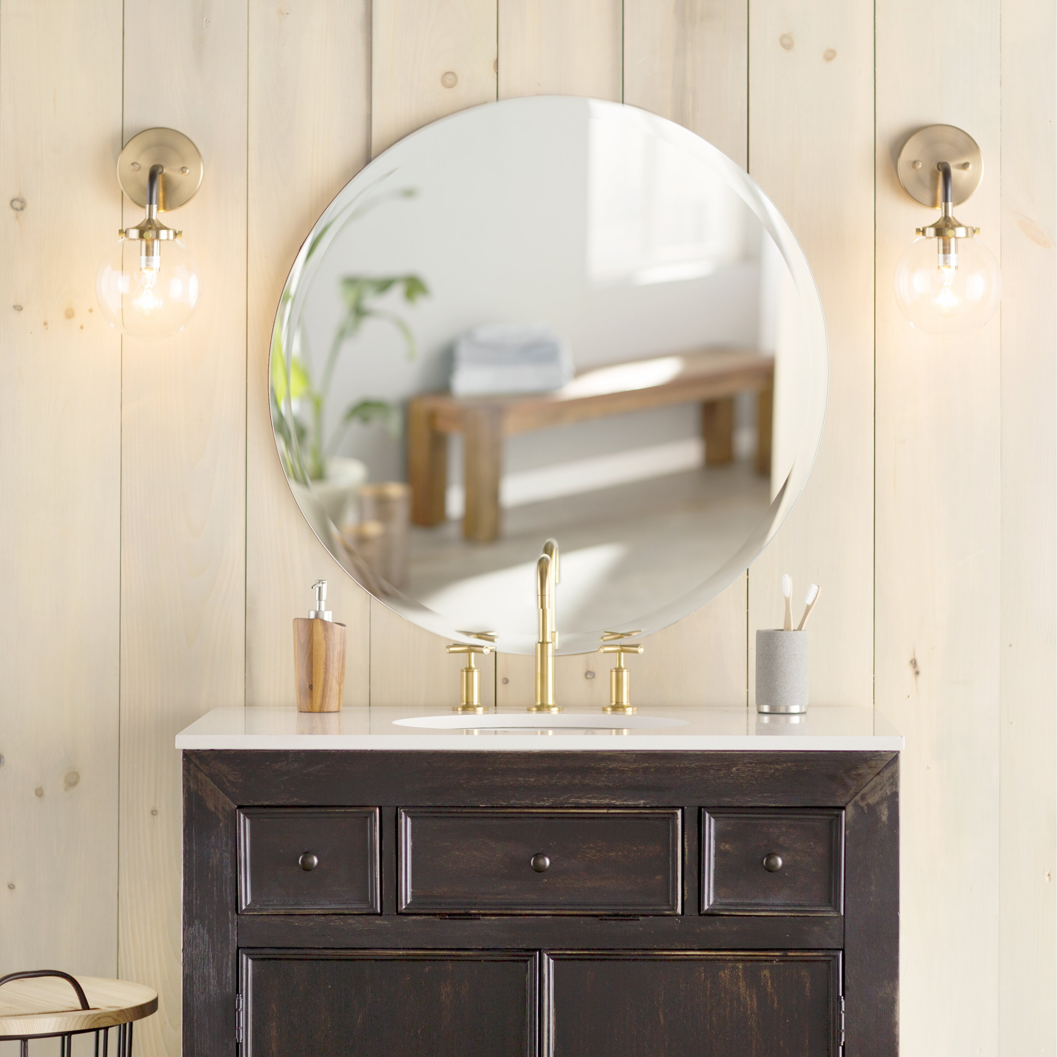 Brayden Studio Molina Wall Mirror & Reviews