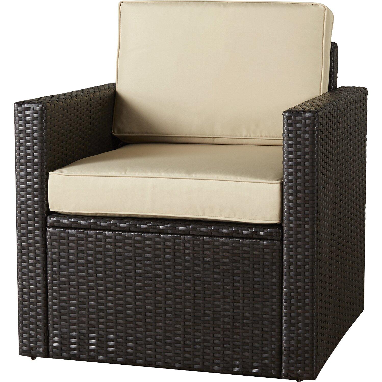 Brayden Studio Crosson Outdoor Wicker Deep Seating Chair