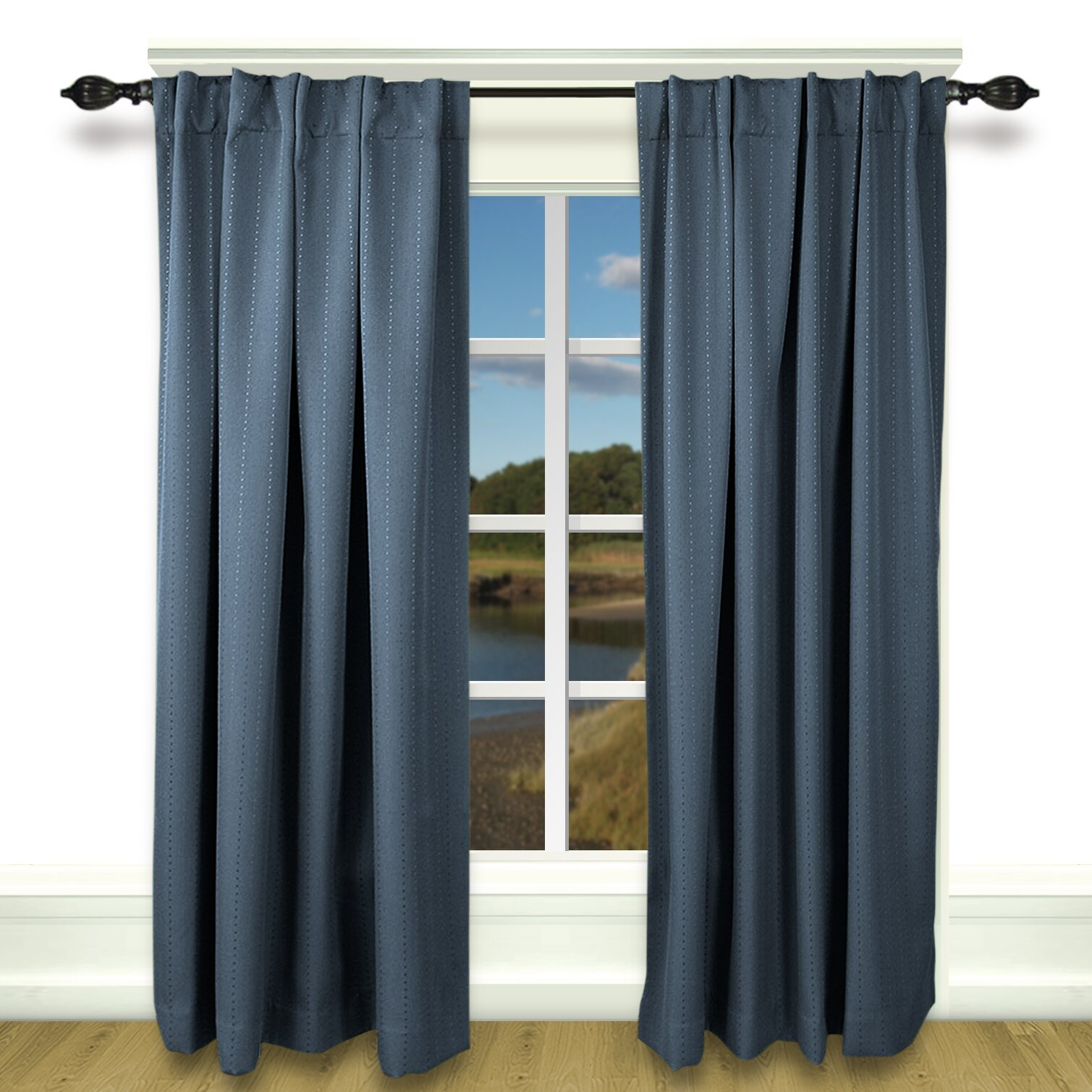 brayden studio louie back tab rod pocket blackout single curtain panel