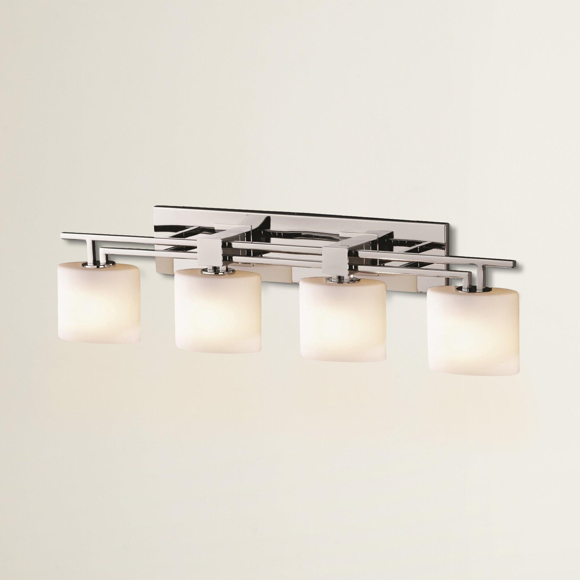 Vanity With Studio Lights : Brayden Studio Luzerne 4 Light Vanity Light & Reviews Wayfair.ca