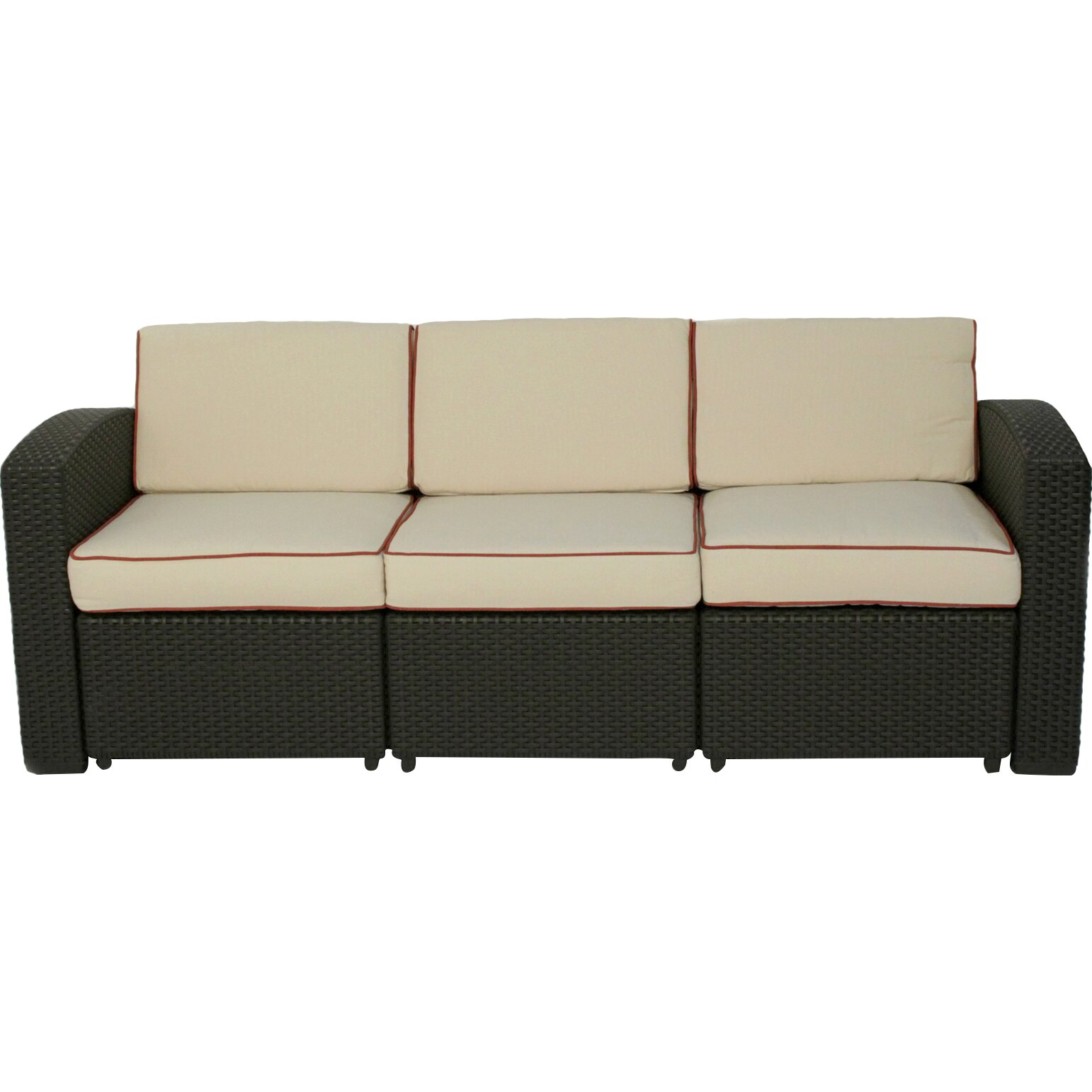 Brayden Studio Loggins Patio Sofa With Cushion Amp Reviews