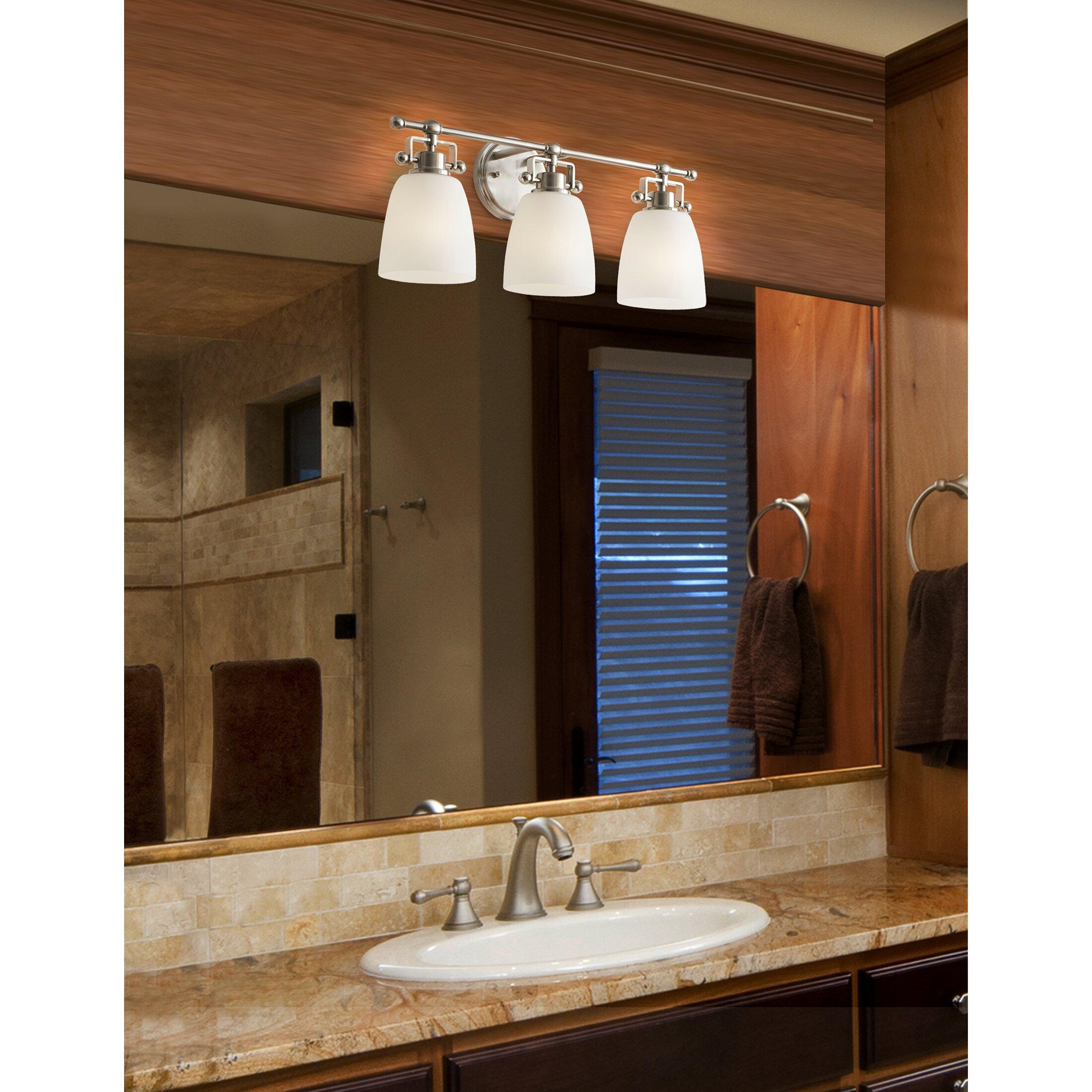 Vanity With Studio Lights : Brayden Studio Meyer 3 Light Vanity Light & Reviews Wayfair