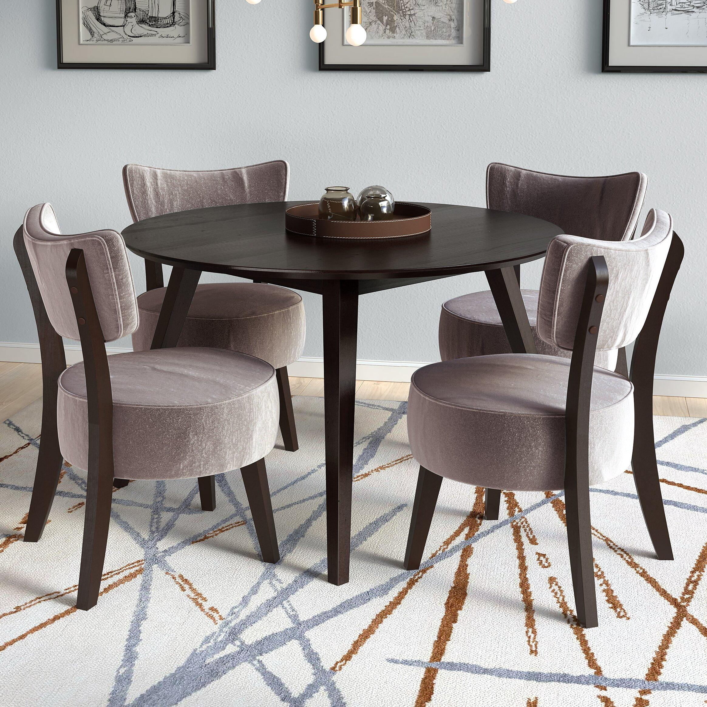 Brayden Studio Mcwhorter Dining Table Reviews: Brayden Studio Gusman Round Stained Dining Table & Reviews
