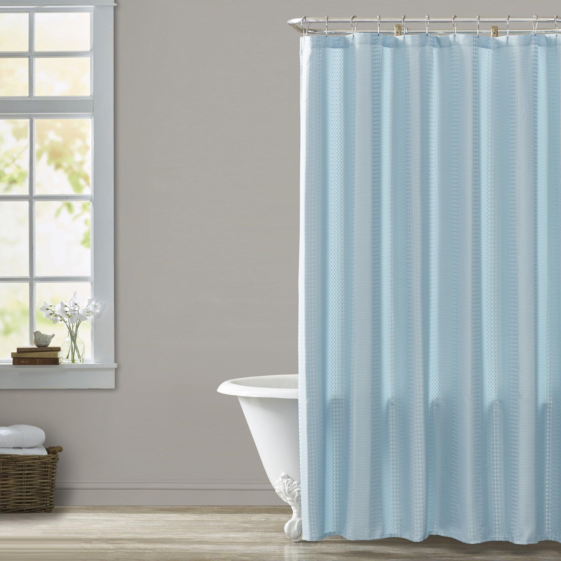 brayden studio masse weave shower curtain reviews wayfair