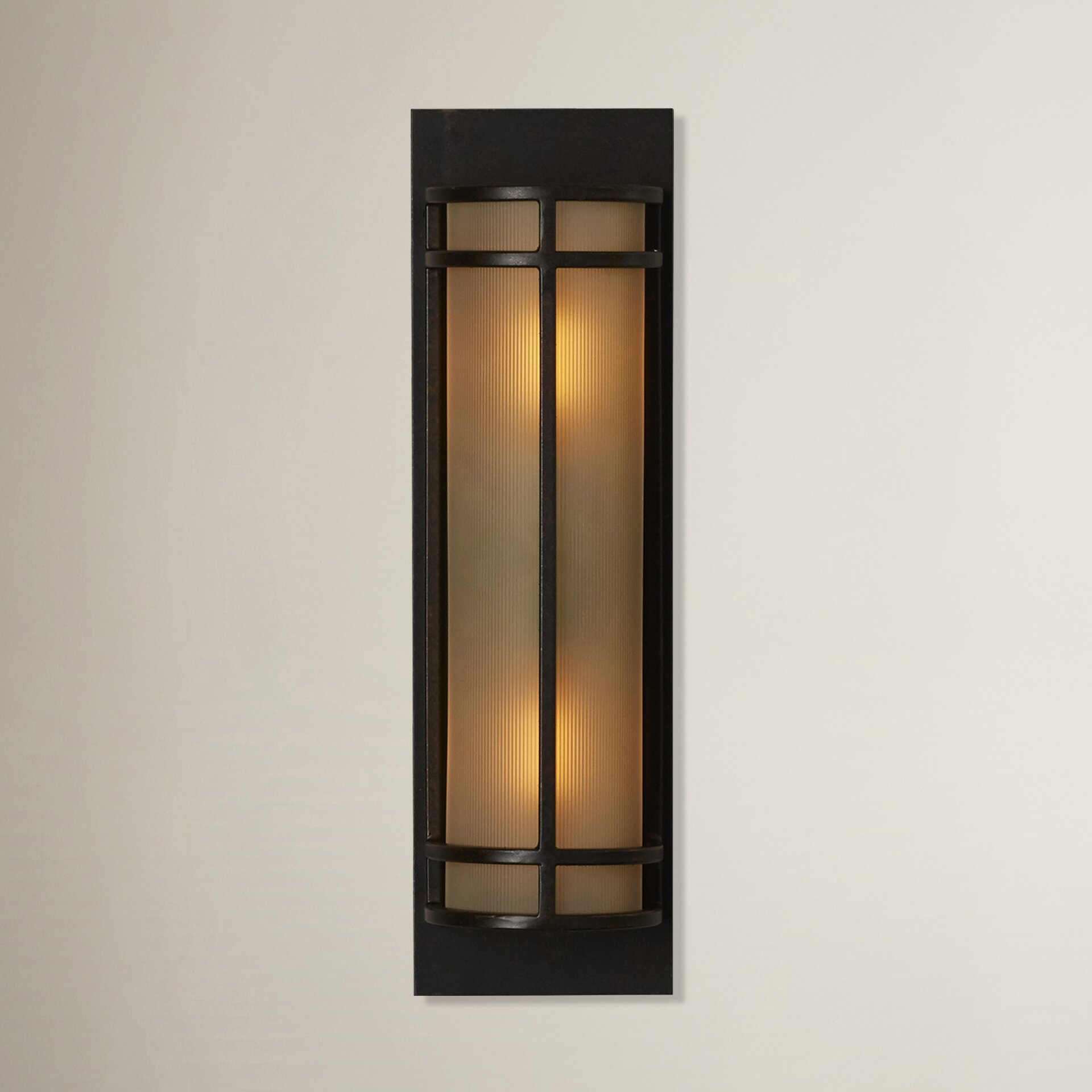 Brayden Studio Oppenheimer 2 Light Flush Wall Sconce