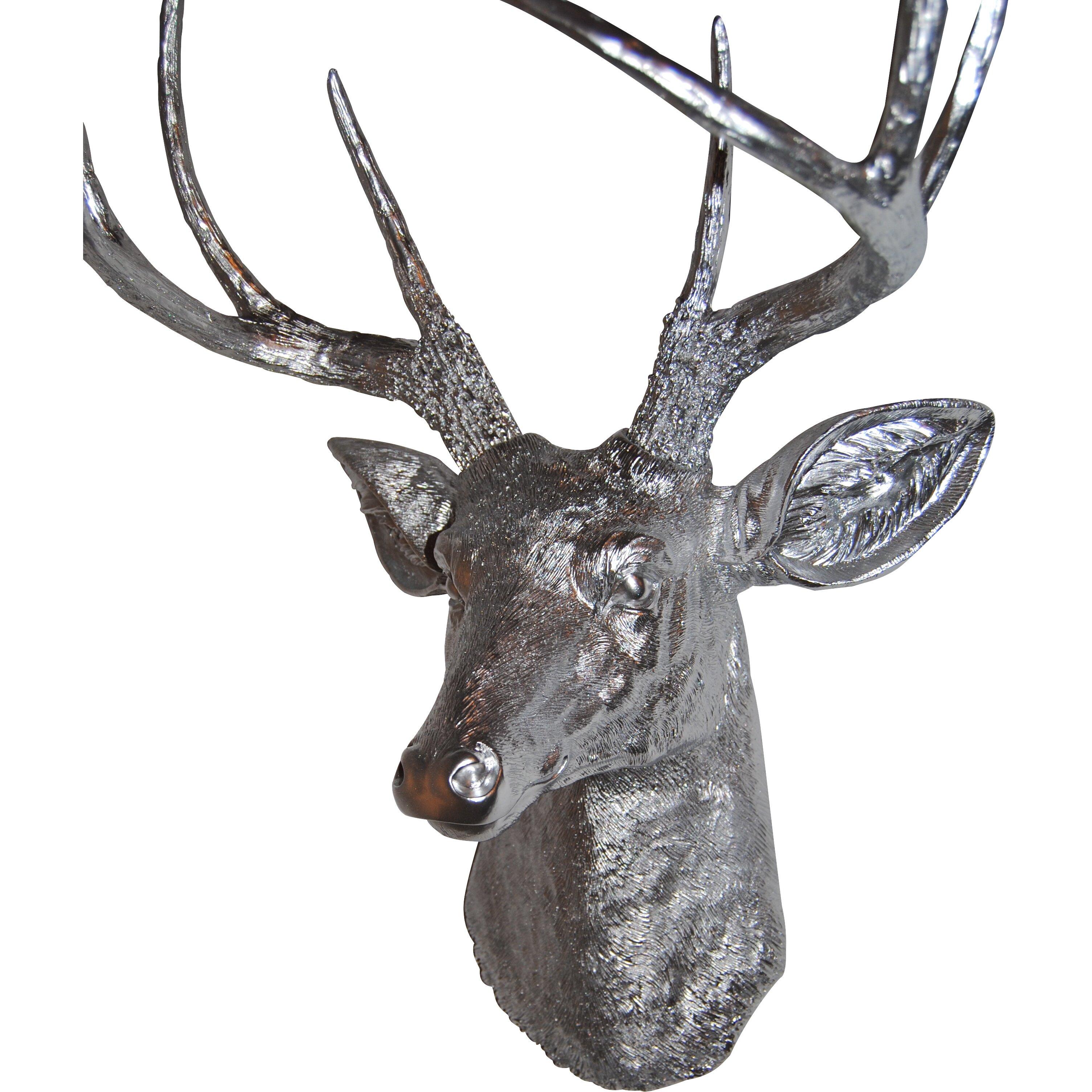 Brayden Studio Large Deer Head Faux Taxidermy Wall D Cor