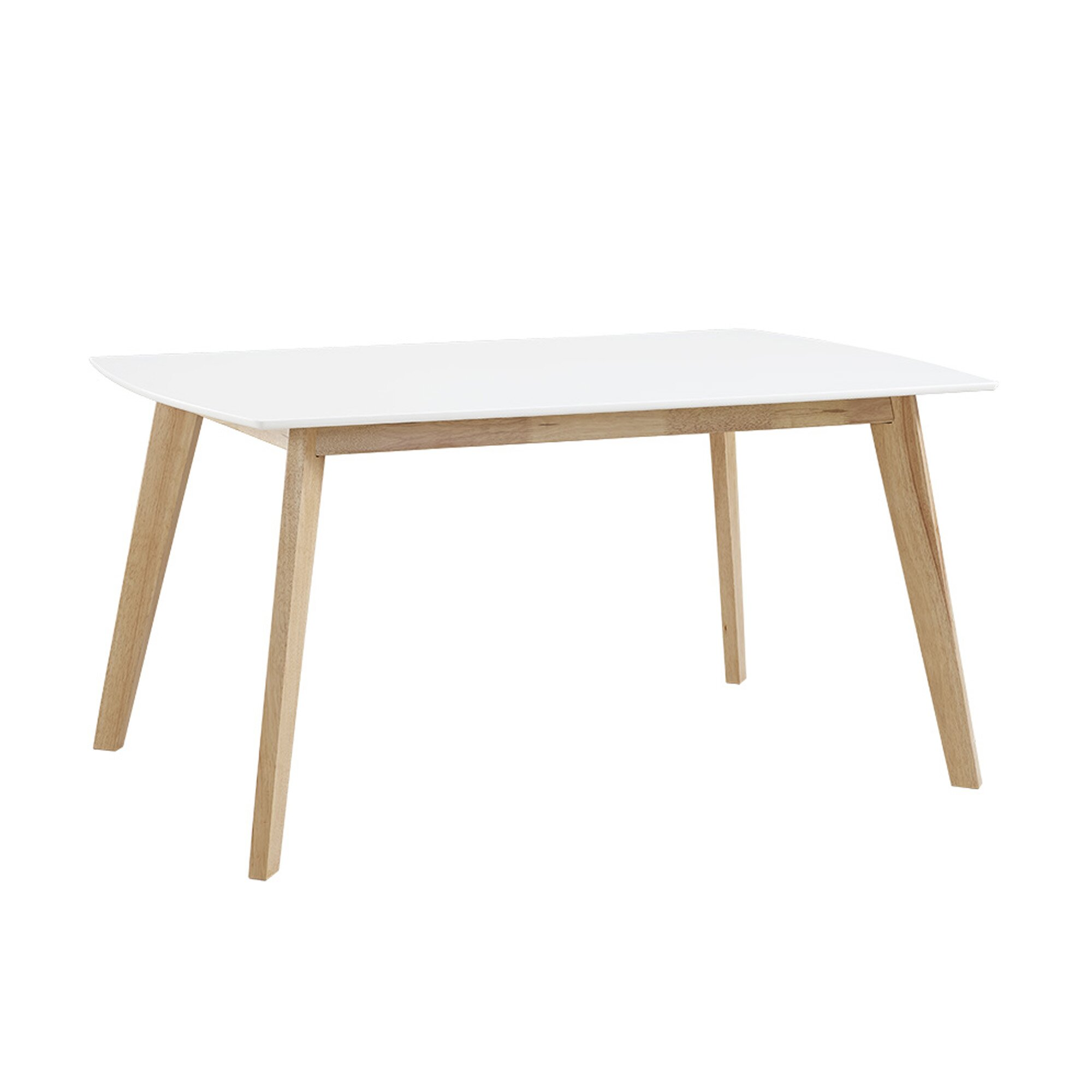 Brayden studio broadus retro modern dining table wayfair for Retro dining table