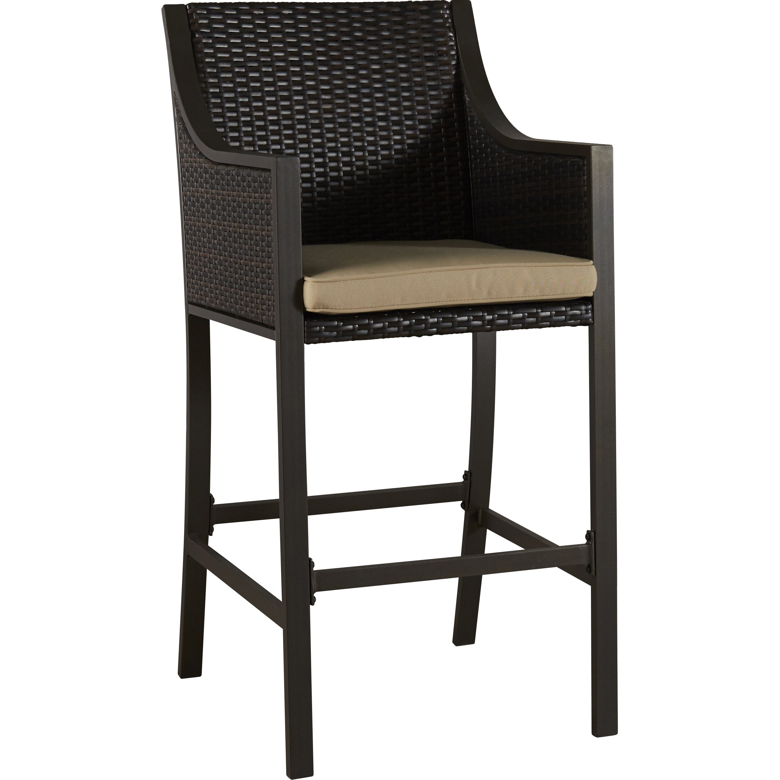 Brayden Studio Liggins 25 25 Quot Bar Stool With Cushion