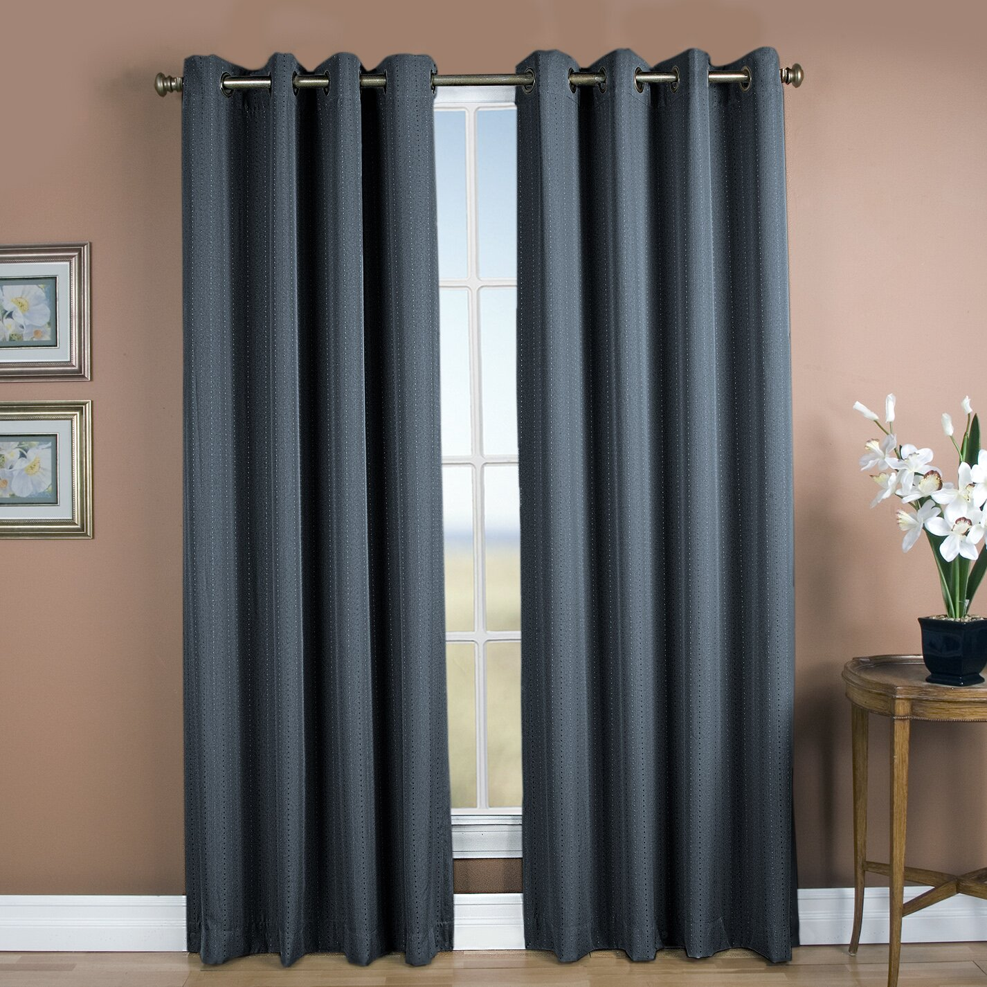 brayden studio louie grommet single curtain panel