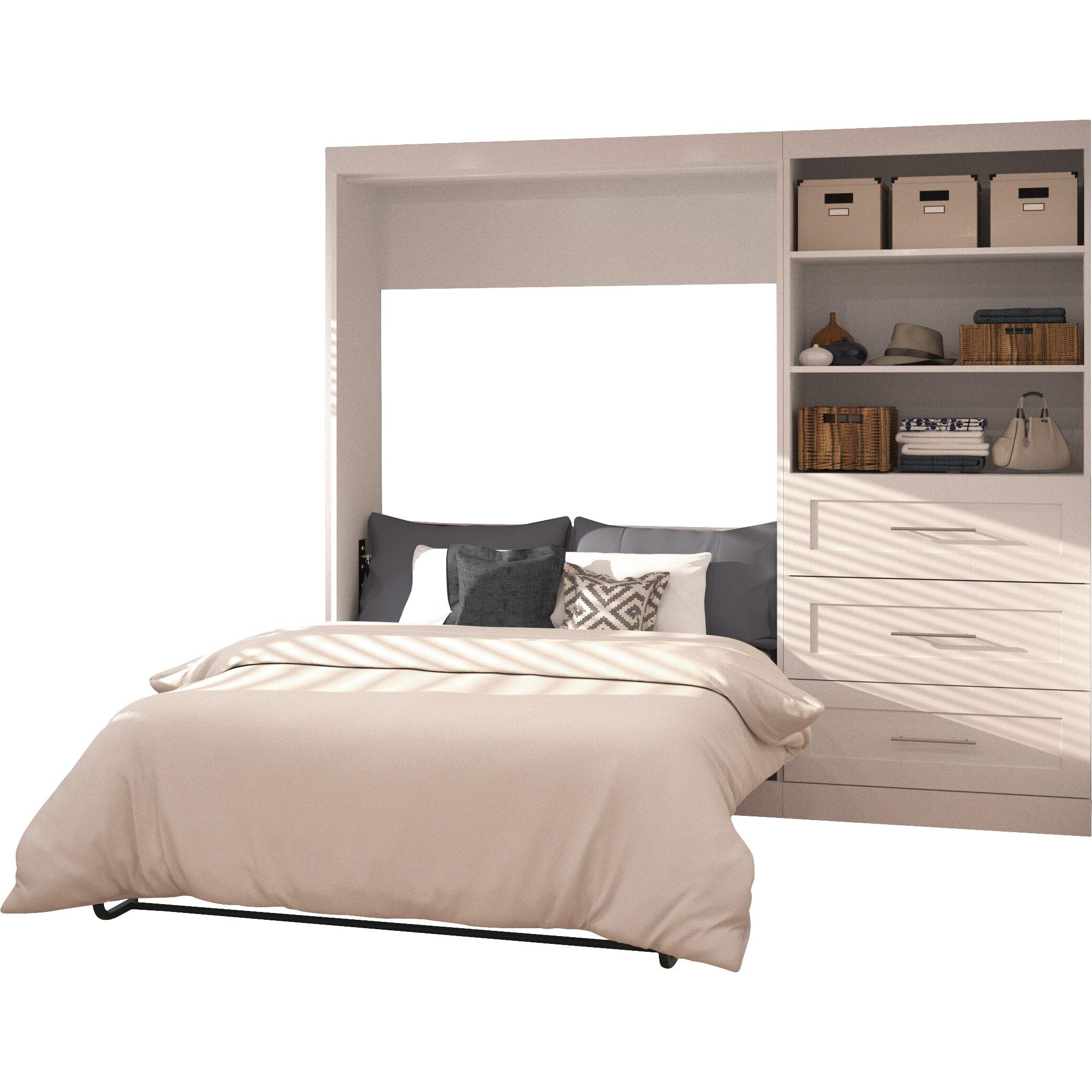 brayden studio walley full double murphy bed reviews wayfair. Black Bedroom Furniture Sets. Home Design Ideas
