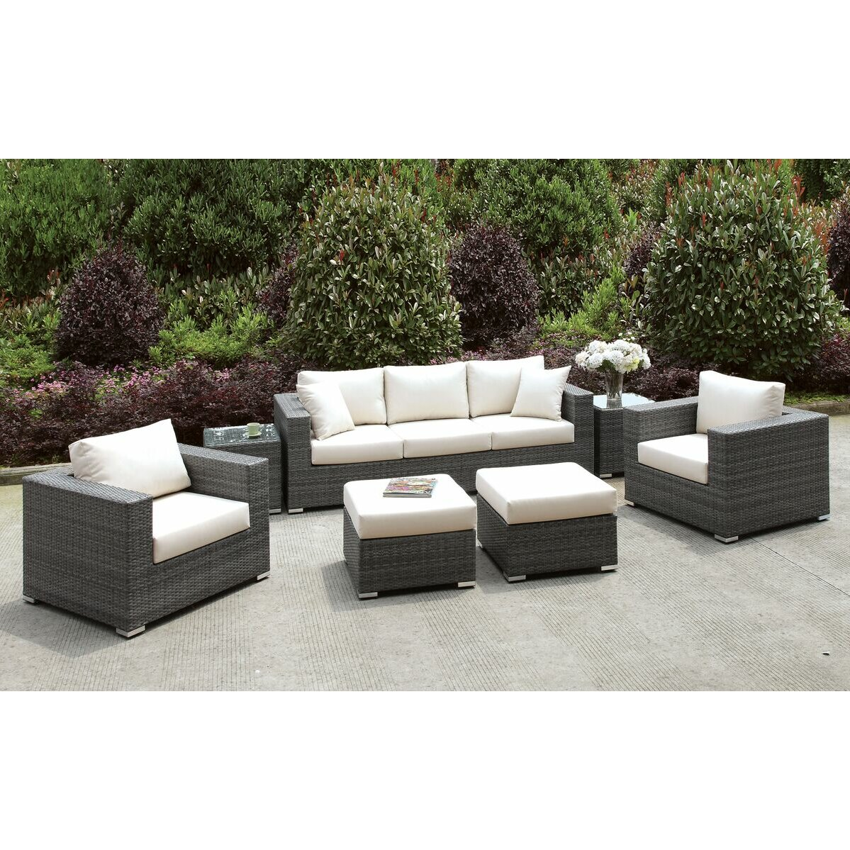 Brayden Studio Peters Deep Seating Group With Cushions Wayfair