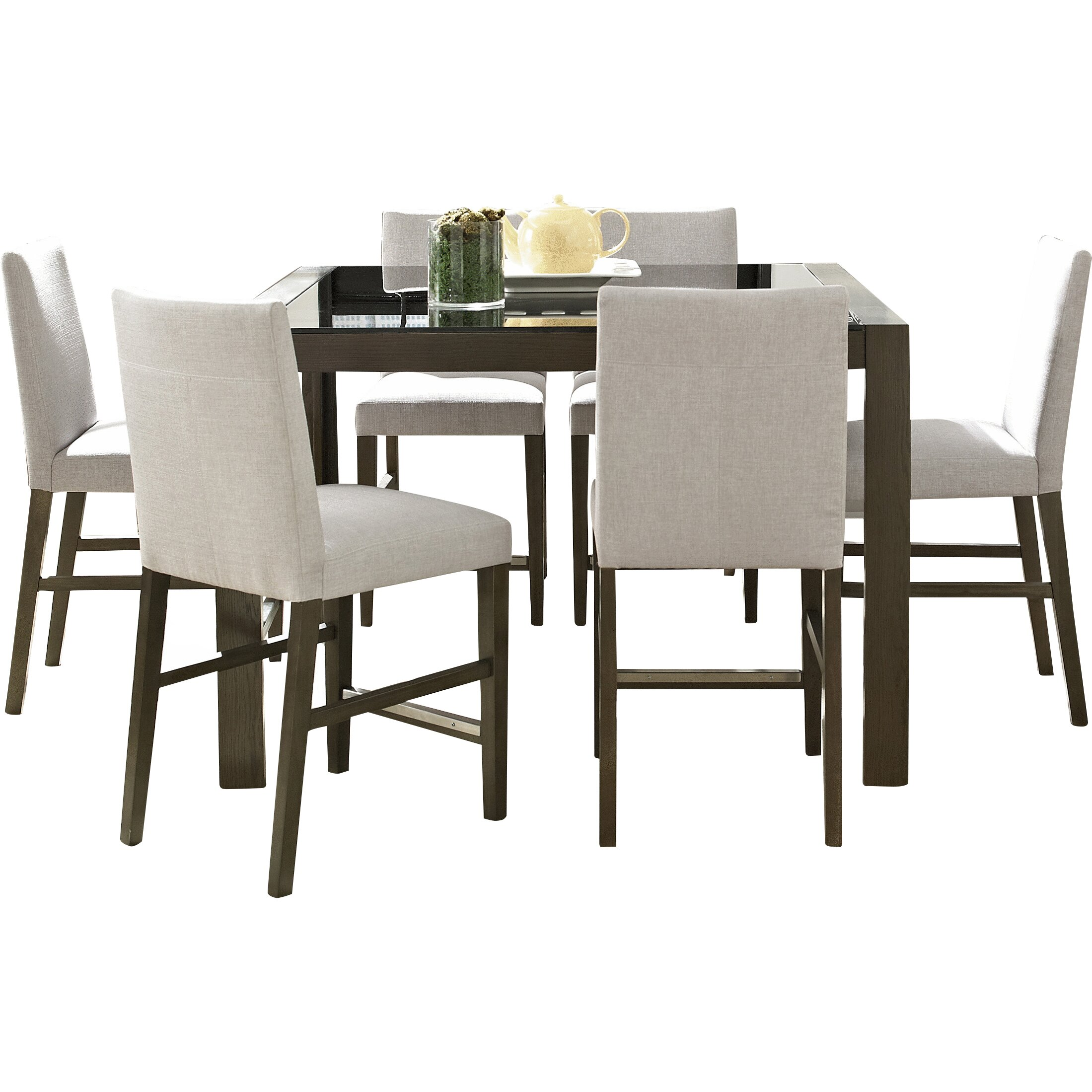 7 Piece Counter Height Dining Room Sets: Brayden Studio North Stoke 7 Piece Counter Height Dining
