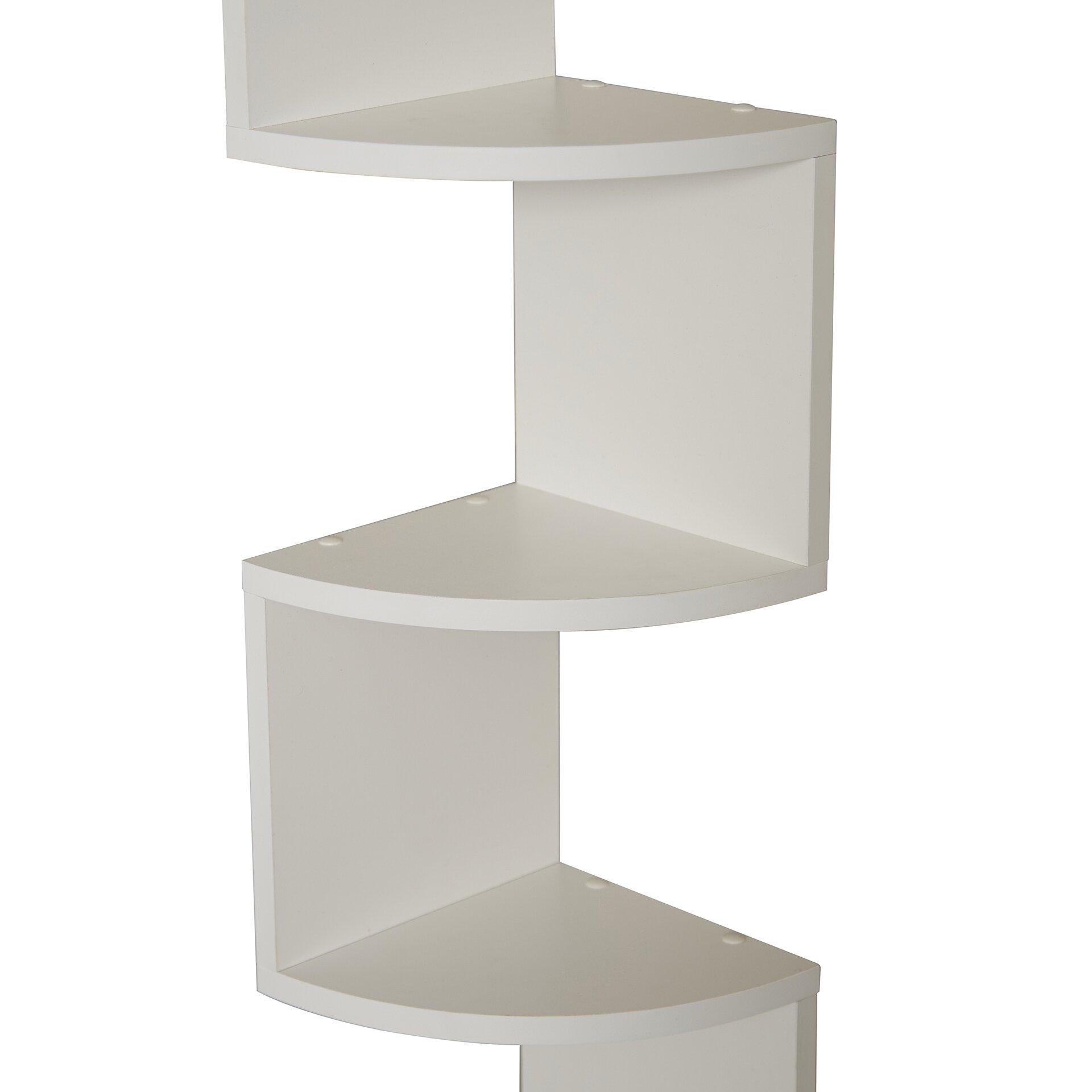 wade logan ridgeway corner wall shelf reviews wayfair. Black Bedroom Furniture Sets. Home Design Ideas