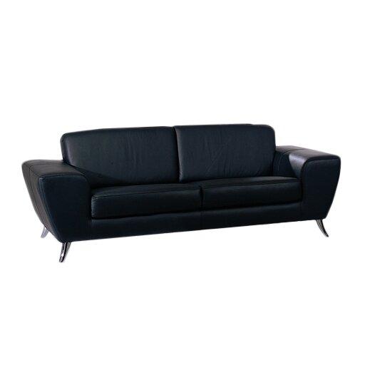 Wade Logan Alonso Leather Sofa Reviews Wayfair