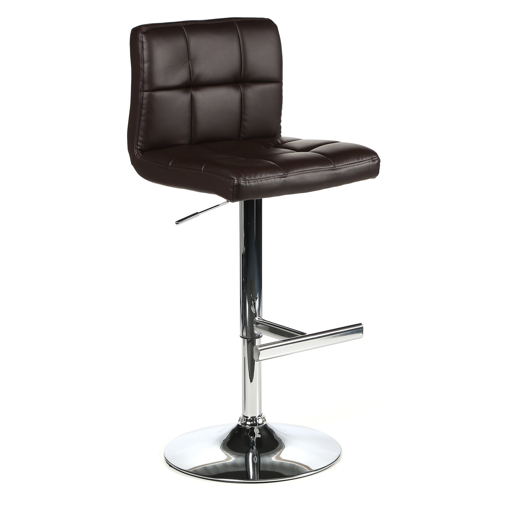 Wade Logan Romeo Adjustable Height Swivel Bar Stool