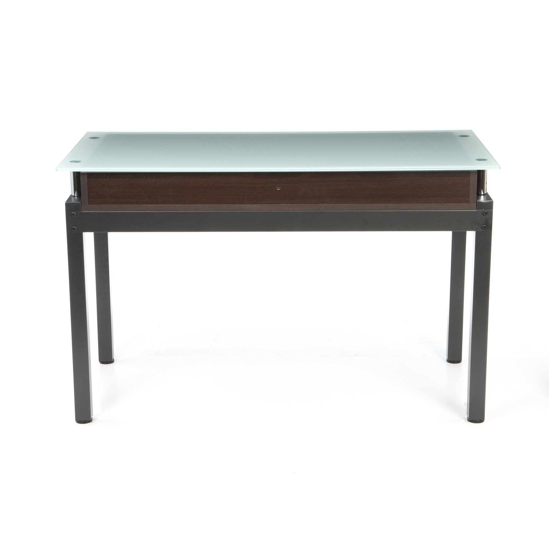wade logan norton malreward writing desk with glass top reviews wayfair. Black Bedroom Furniture Sets. Home Design Ideas