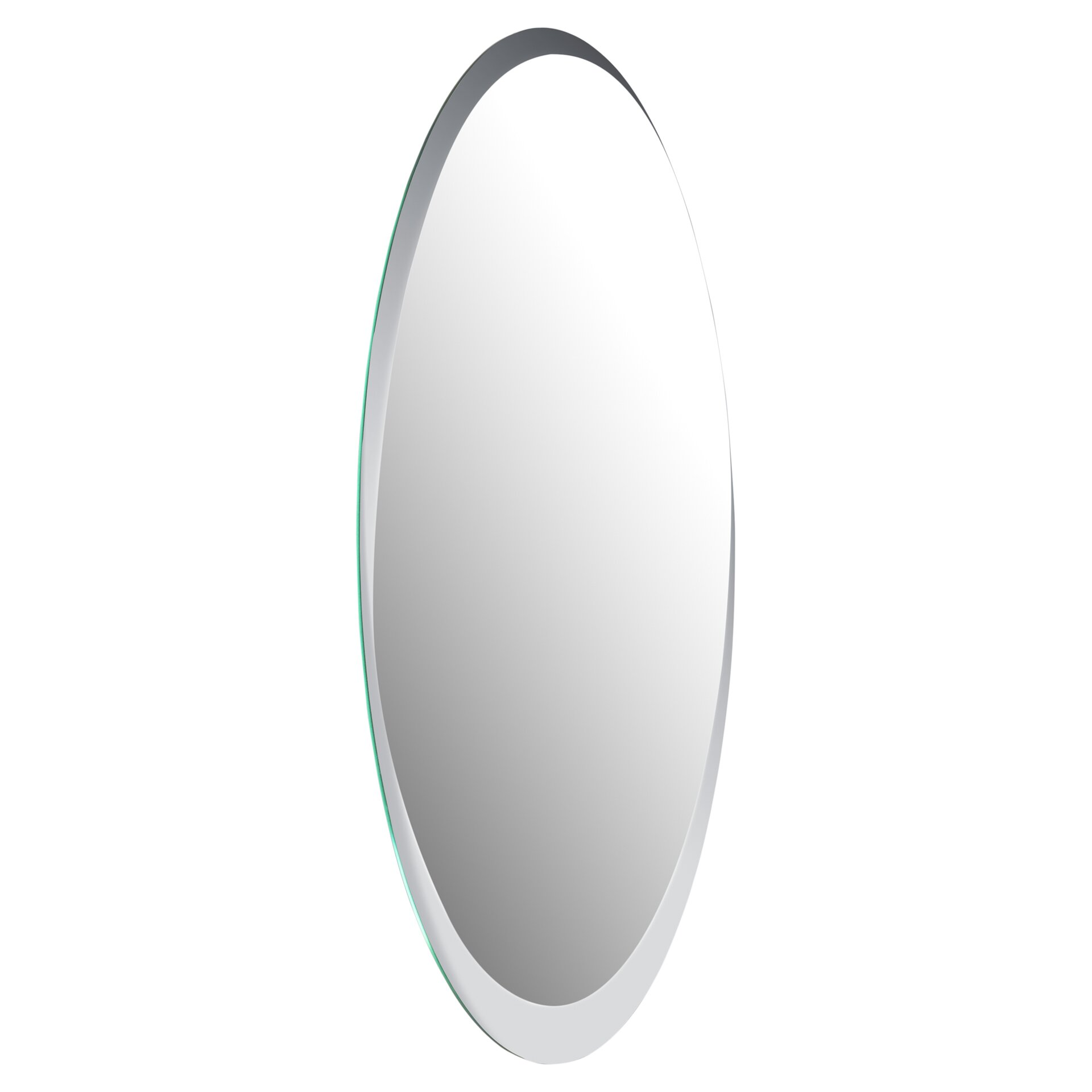 Wade Logan Duane Oval Bevel Frameless Wall Mirror