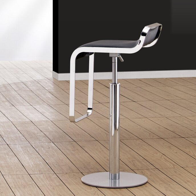 Wade Logan Landen Adjustable Height Swivel Bar Stool