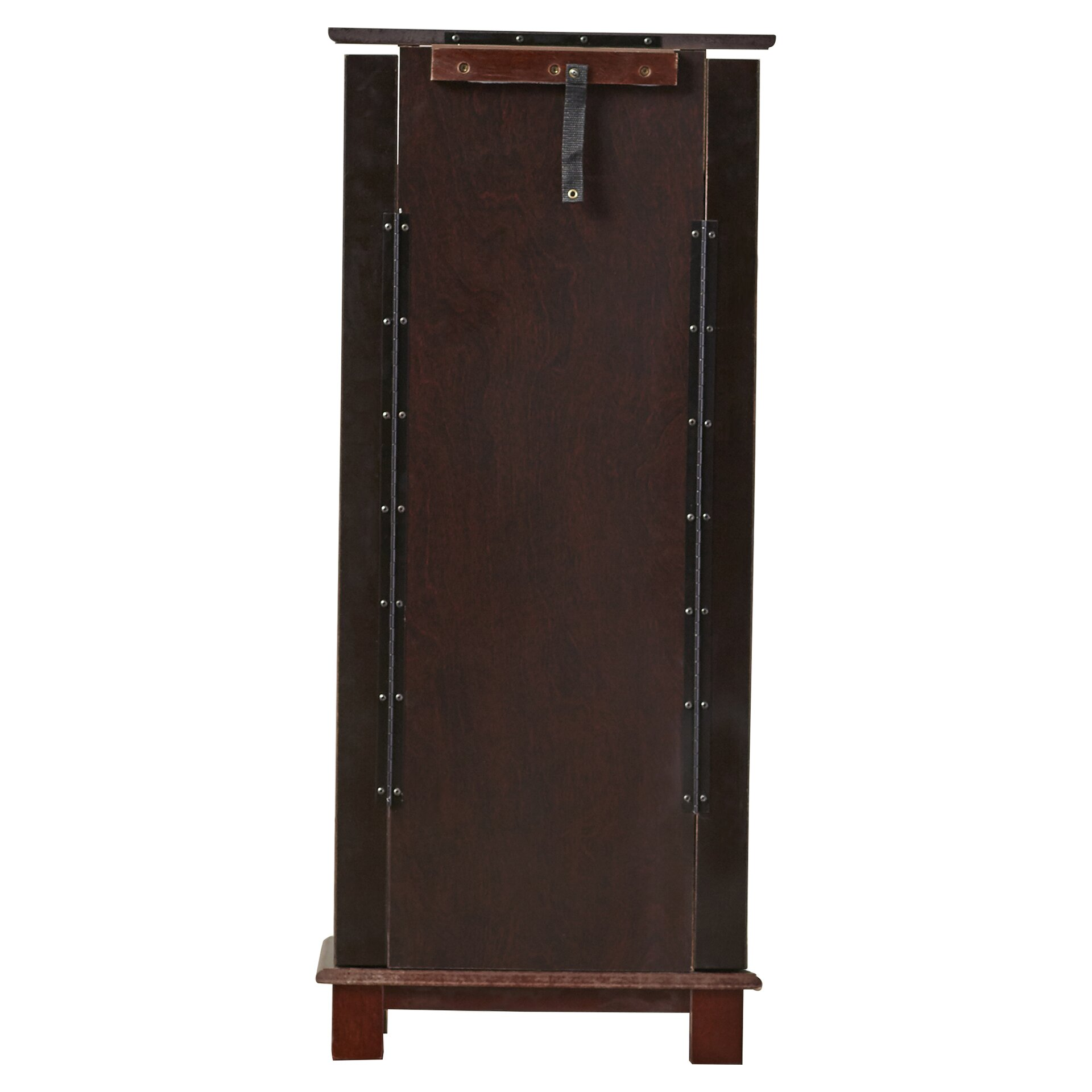 wade logan clifton jewelry armoire with mirror reviews wayfair. Black Bedroom Furniture Sets. Home Design Ideas