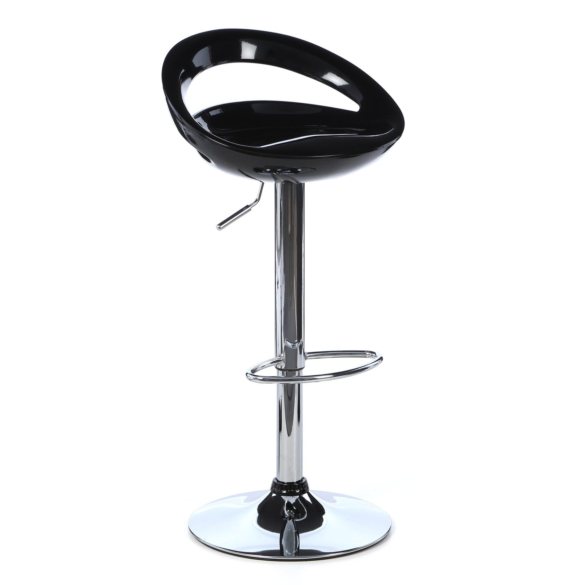 Wade logan lowell adjustable height swivel bar stool for Adjustable height bar stools