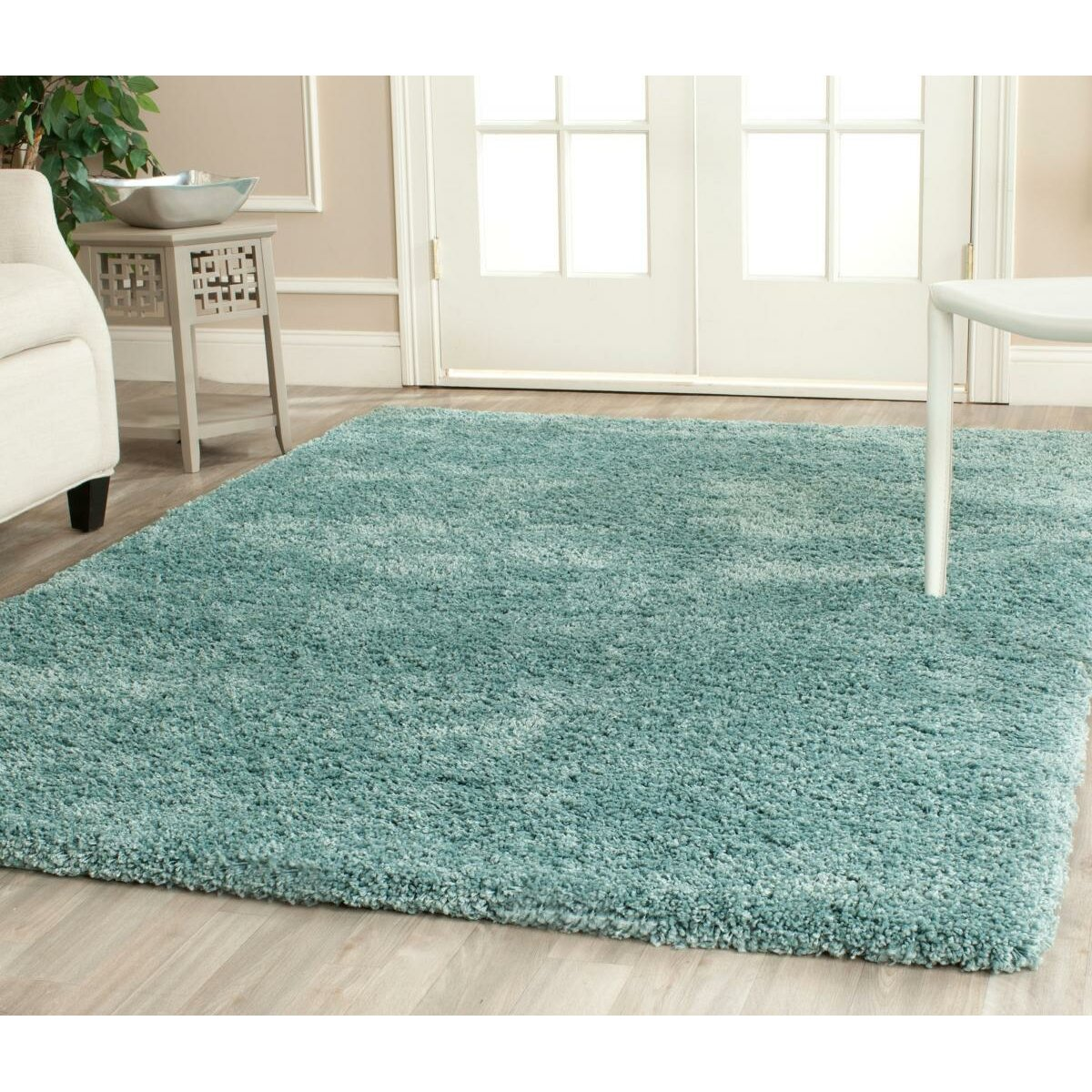 Wade Logan Page Light Blue Shag Area Rug Wayfair