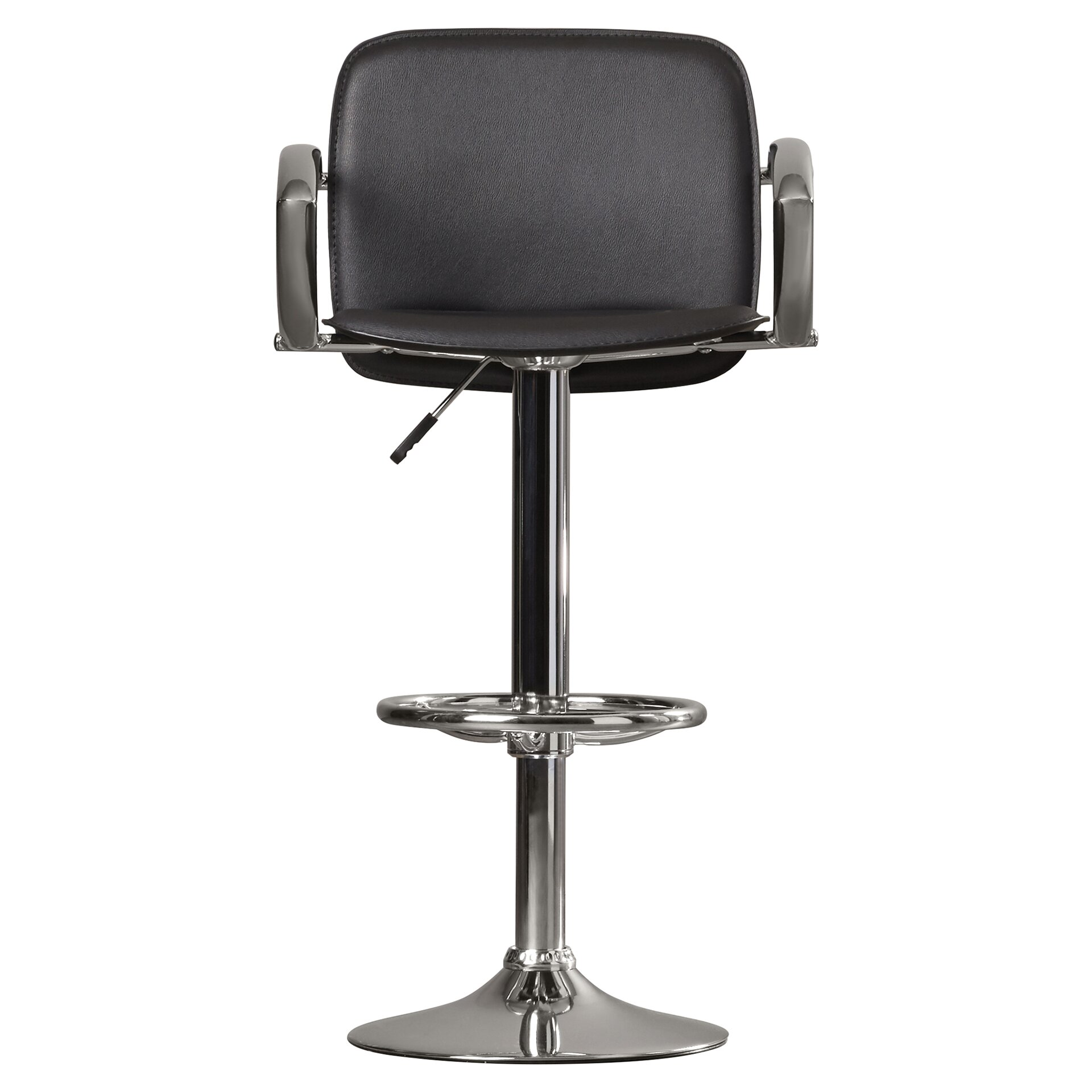 Wade Logan Shain Adjustable Height Swivel Bar Stool