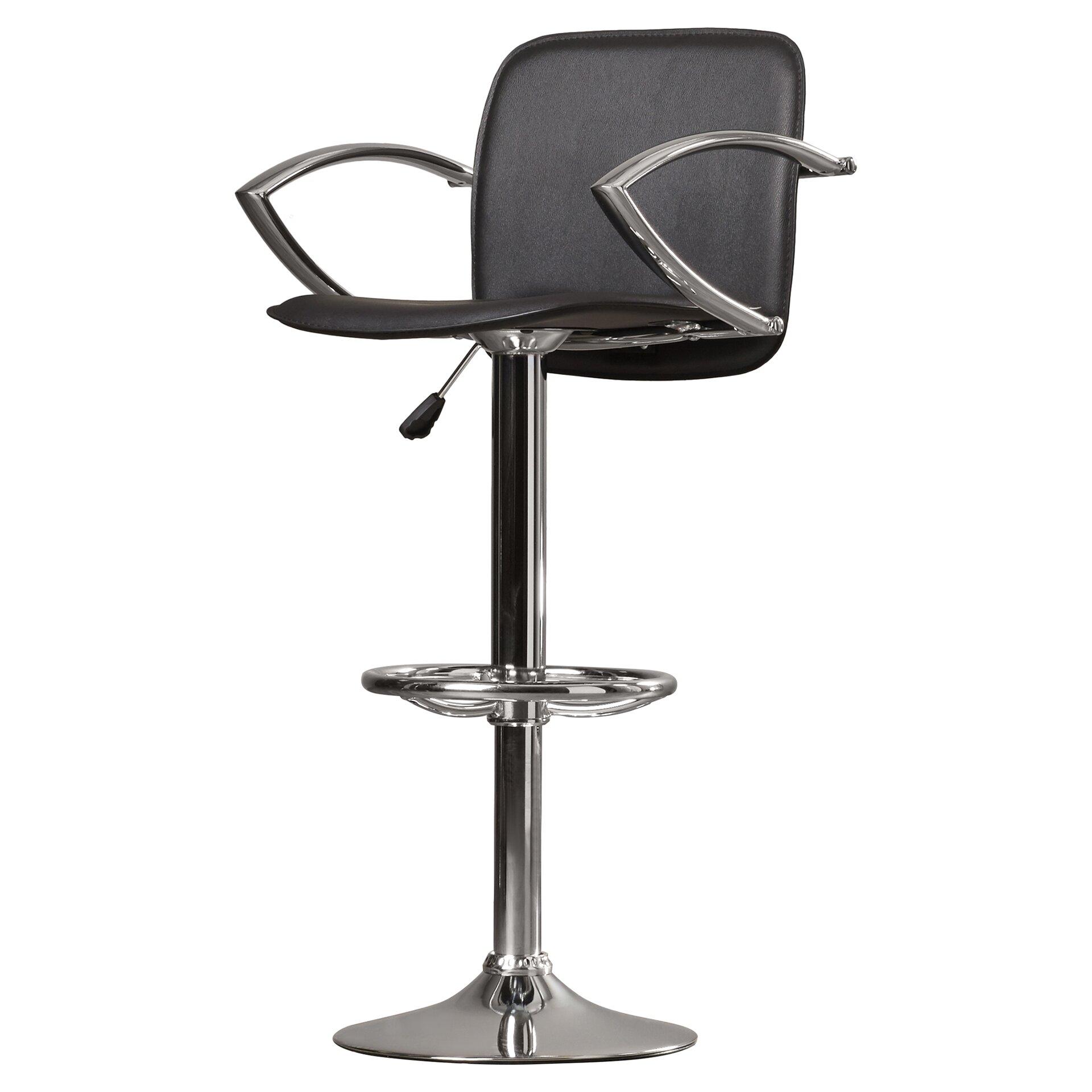 adjustable height swivel bar stool. Wade Logan Shain Adjustable Height Swivel Bar Stool