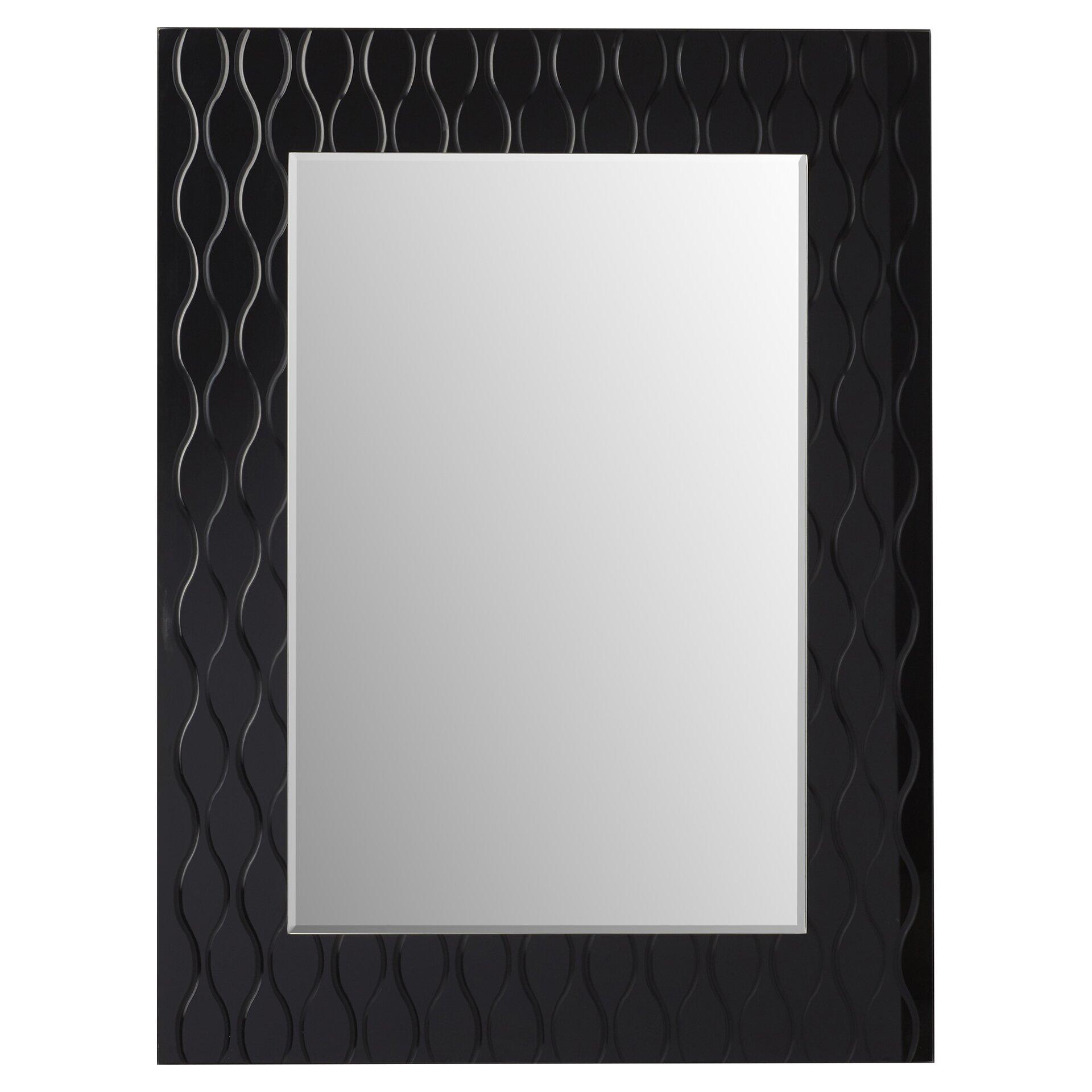 Wade logan st george modern wall mirror reviews wayfair for Modern wall mirror