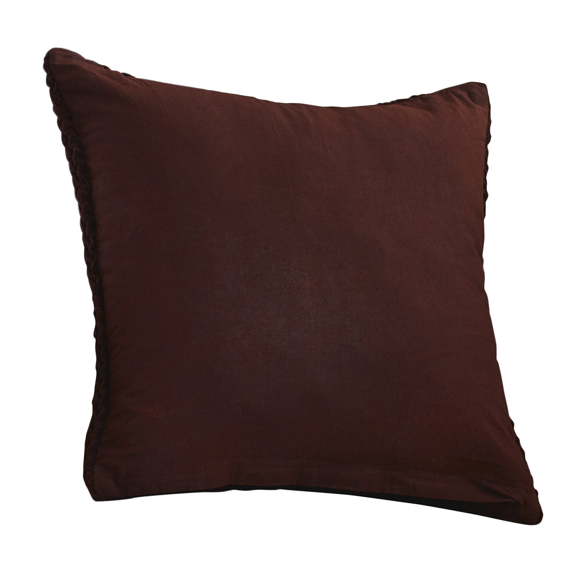 Throw Pillows Textured : Wade Logan Stoney Littleton Textured Triangles Cotton Throw Pillow & Reviews Wayfair