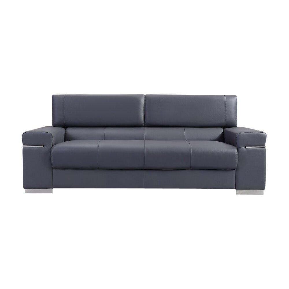 Wade Logan Orlando Leather Sofa Reviews Wayfair