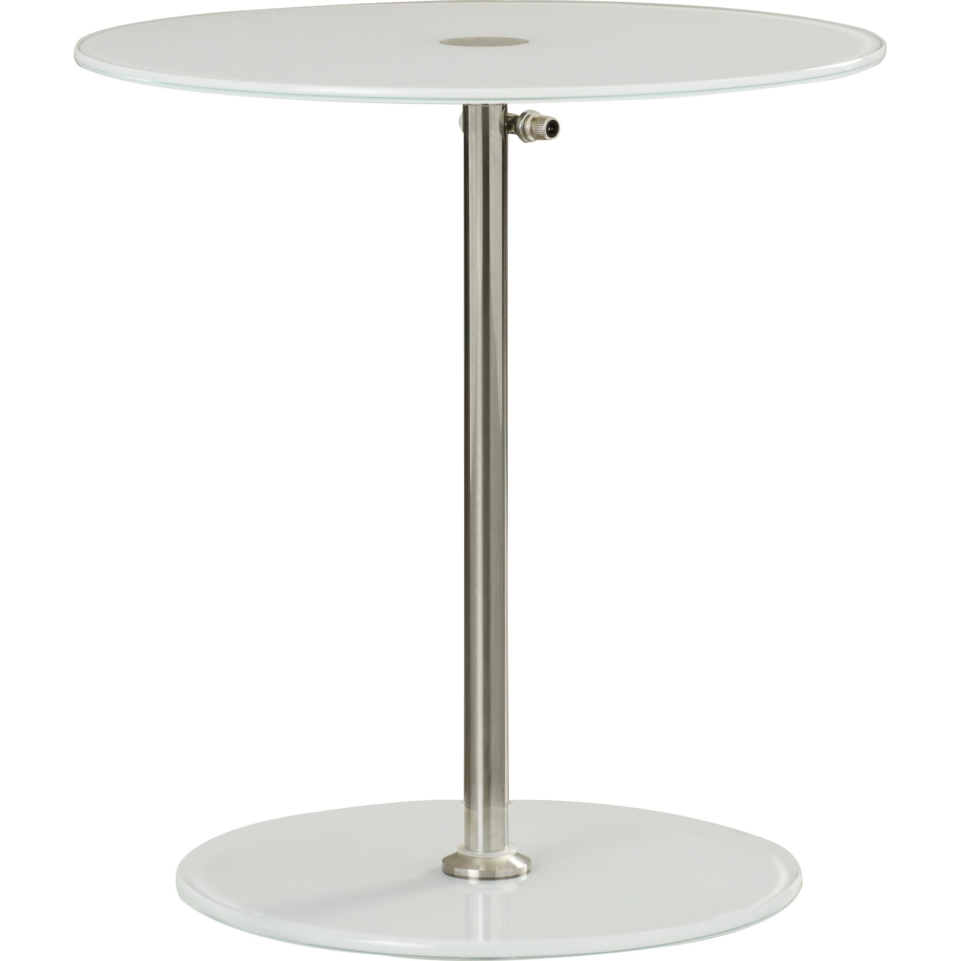 Wade Logan Wilbert Round Glass Side Table WADL3806 WADL3806
