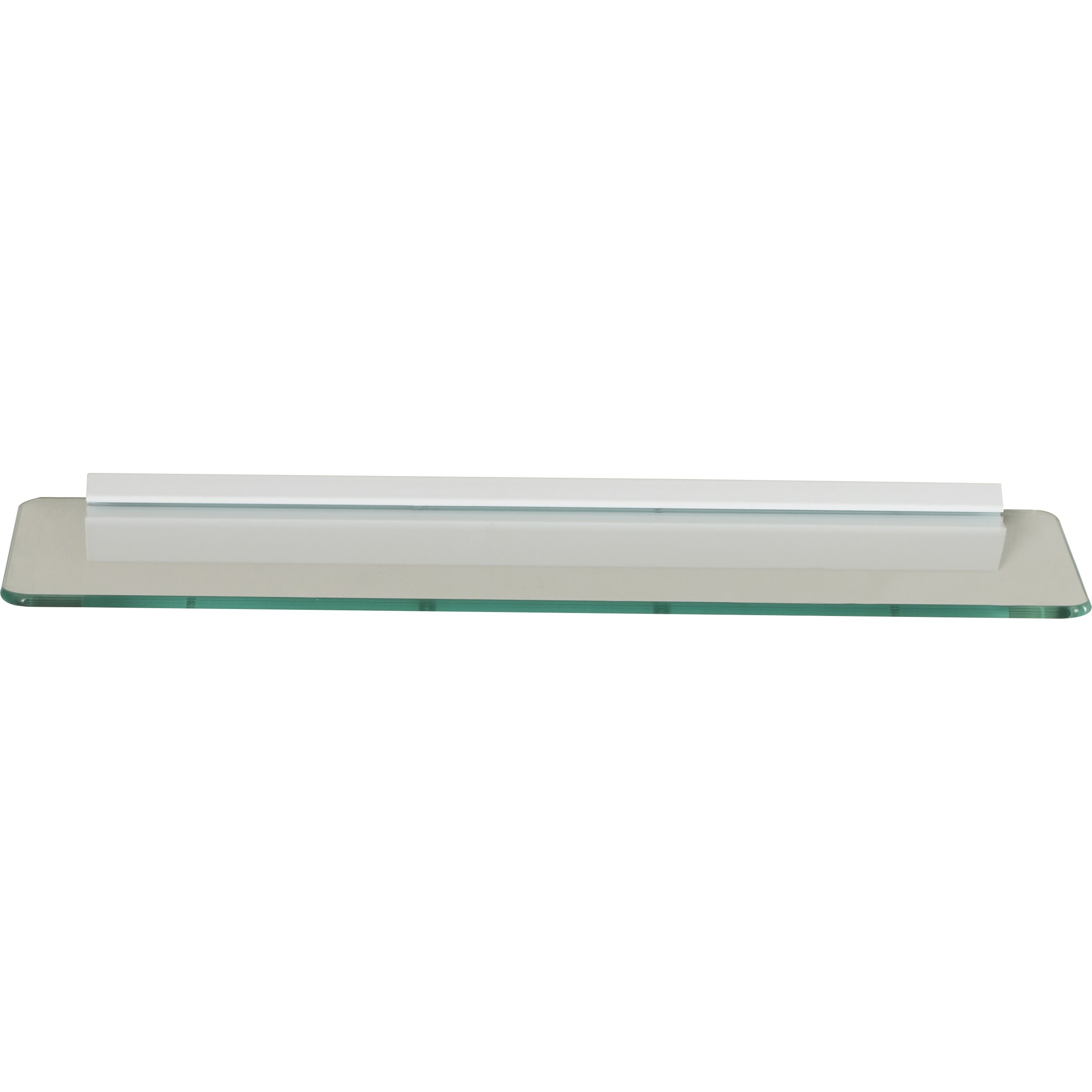 Glass Shelf In Bathroom Wade Logan Glass Floating Shelf
