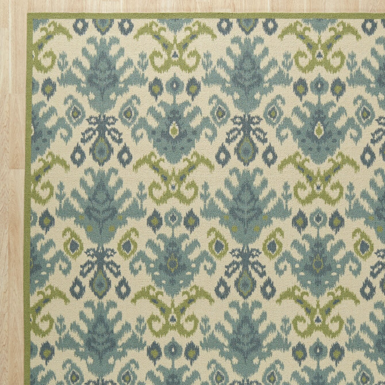 Wade logan blair ivory green area rug reviews wayfair for Area carpets and rugs