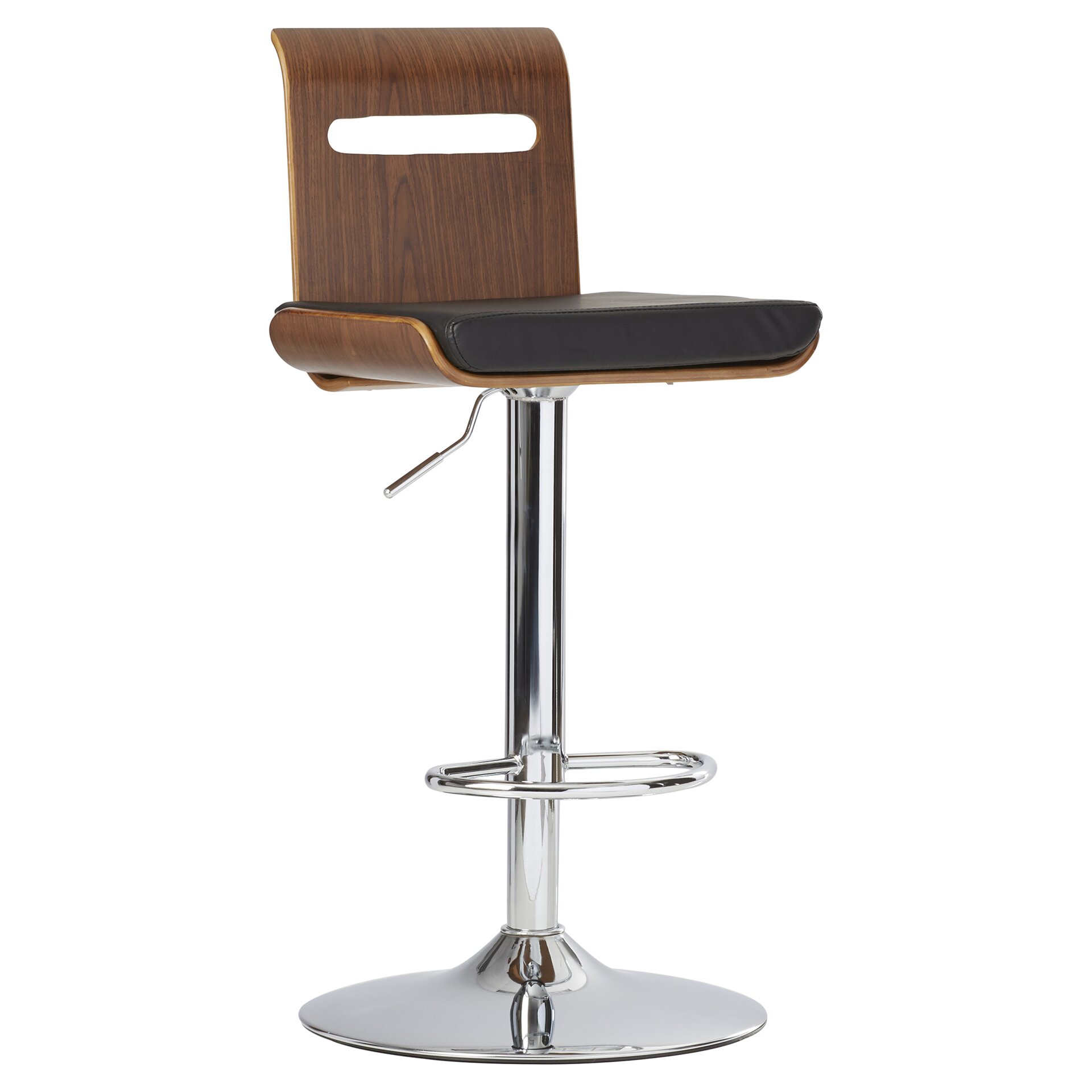 Wade Logan Grove City Adjustable Height Swivel Bar Stool