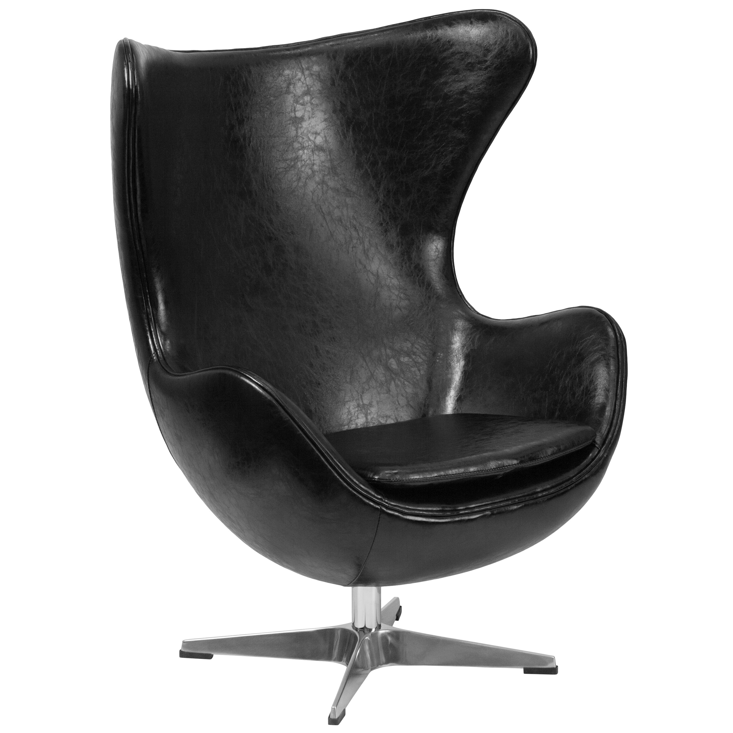 leather egg chair wade logan leather tilt lock mechanism lounge chair 16624 | Leather Egg Chair WADL5502