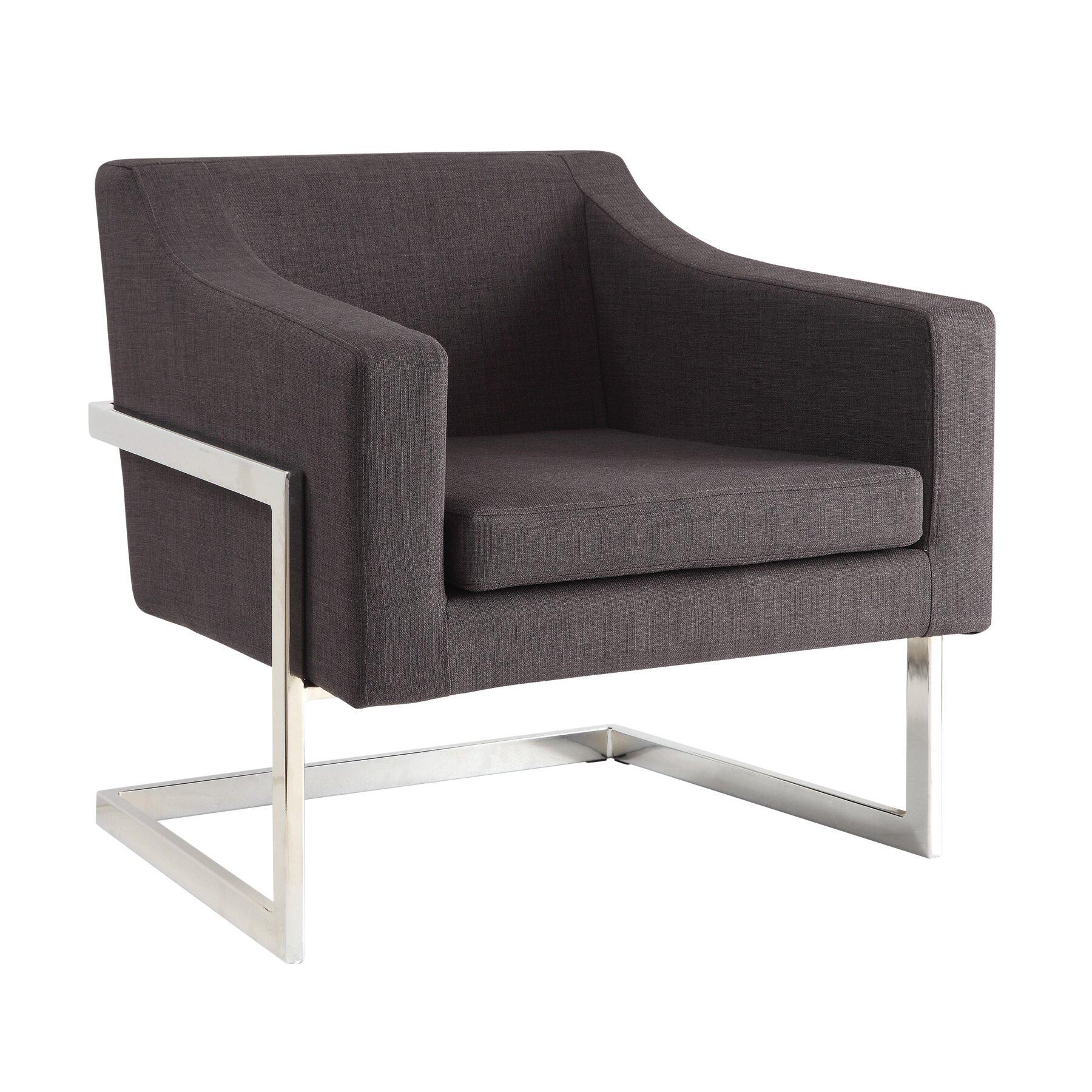 wade logan zachary contemporary arm chair reviews wayfair. Black Bedroom Furniture Sets. Home Design Ideas