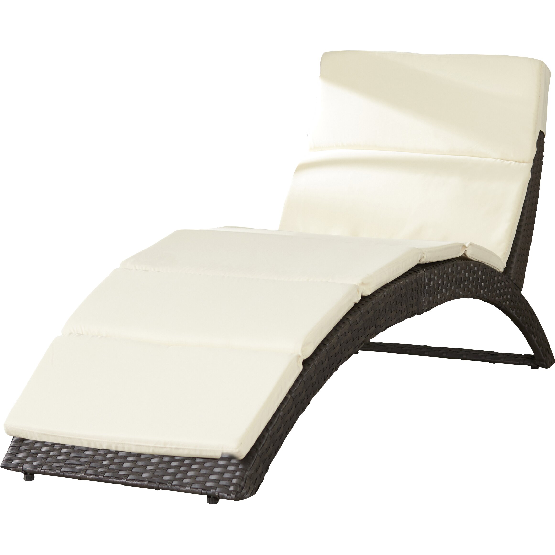 Wade logan johnathan chaise lounge with cushion reviews for Buy chaise lounge cushion