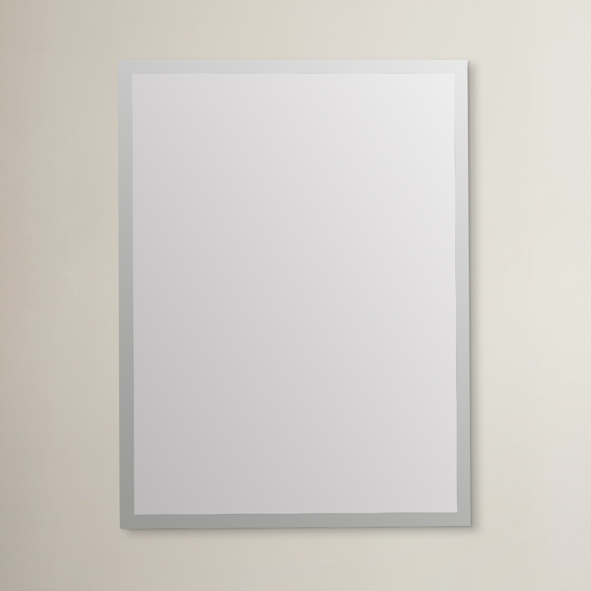 Wade logan frameless wall mirror reviews wayfair for Frameless wall mirror