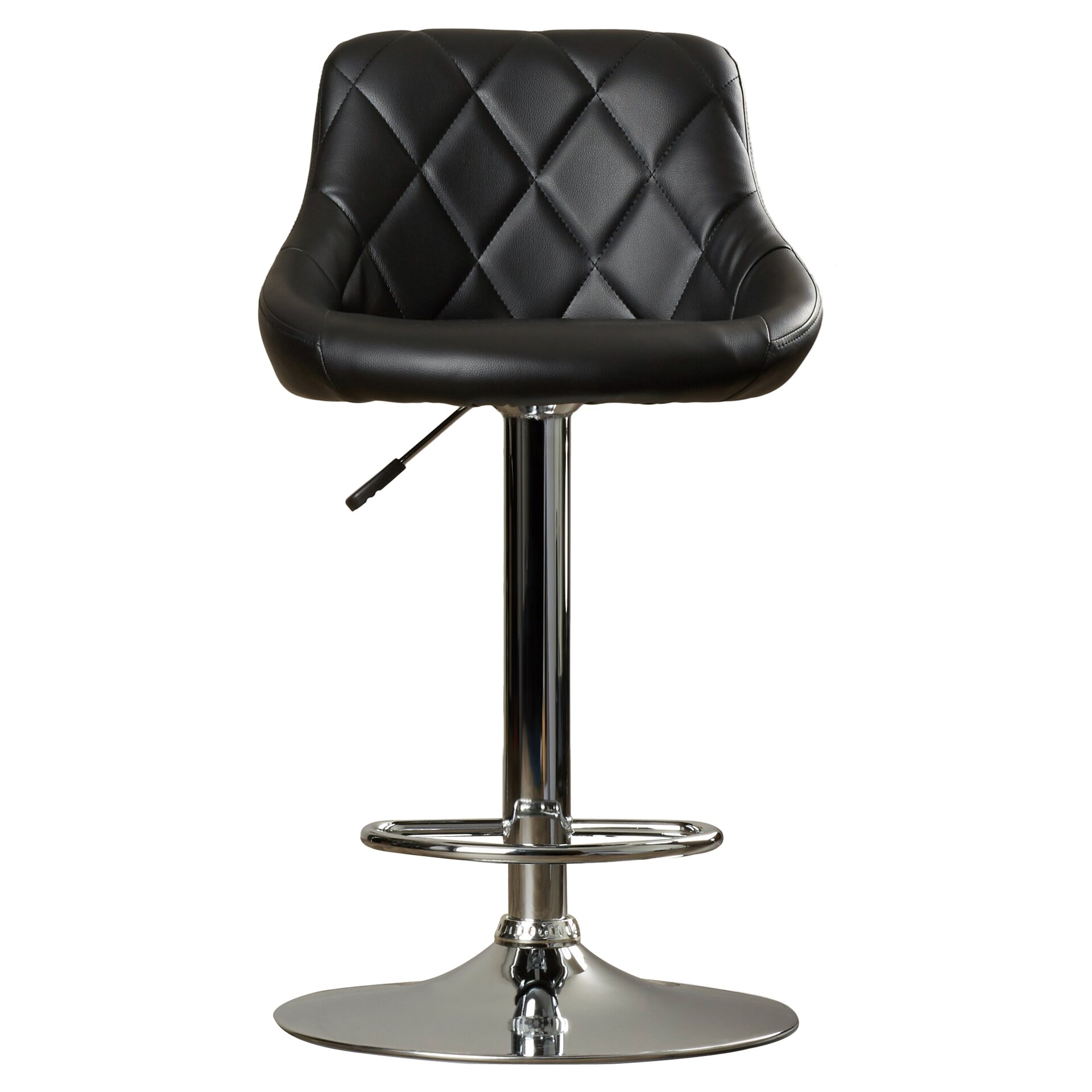 Wade Logan Clay Adjustable Height Swivel Bar Stool  : Contemporary2BVinyl2BAdjustable2BHeight2BSwivel2BBar2BStool2Bwith2BCushion from www.wayfair.com size 1920 x 1920 jpeg 238kB